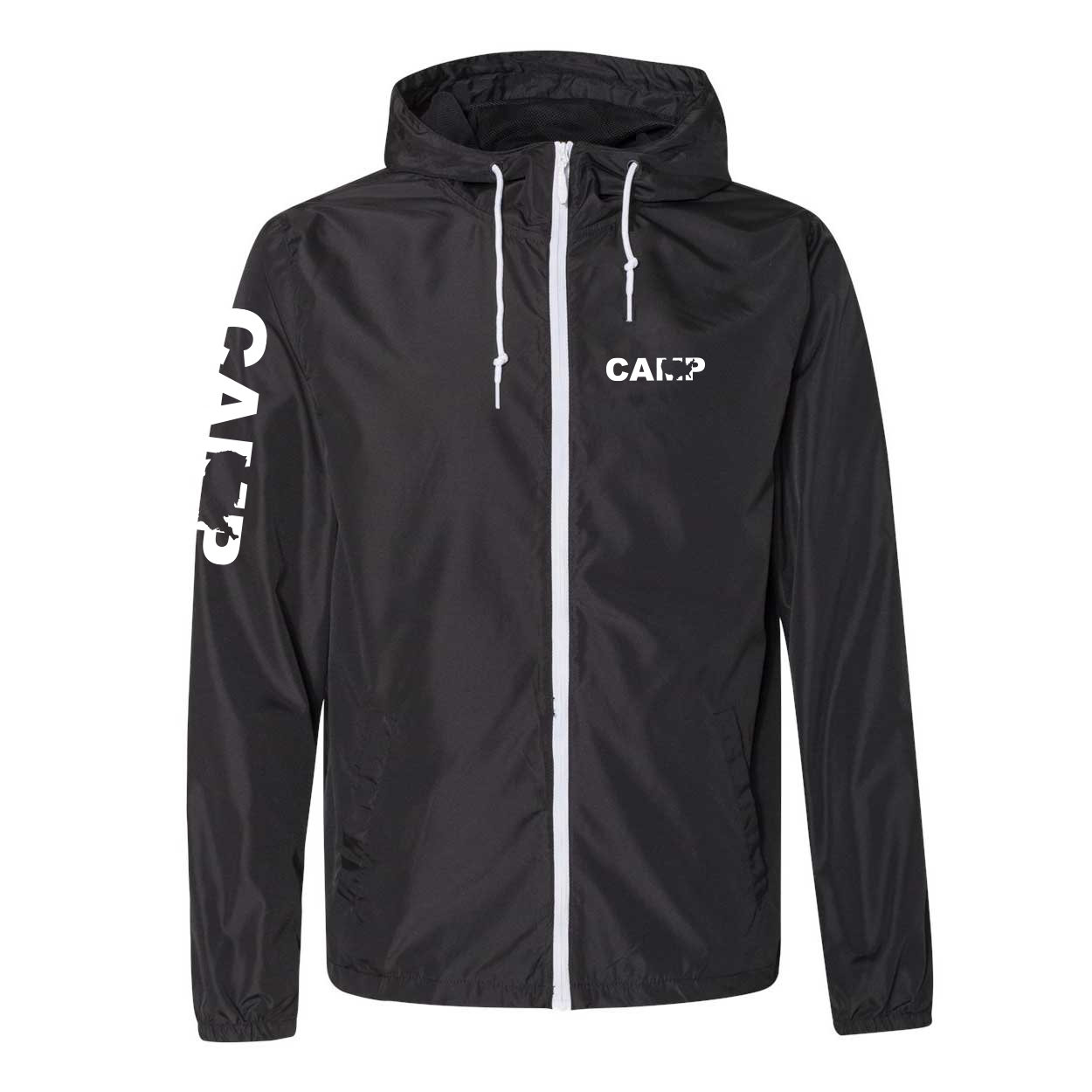 Camp United States Classic Lightweight Windbreaker Black/White (White Logo)