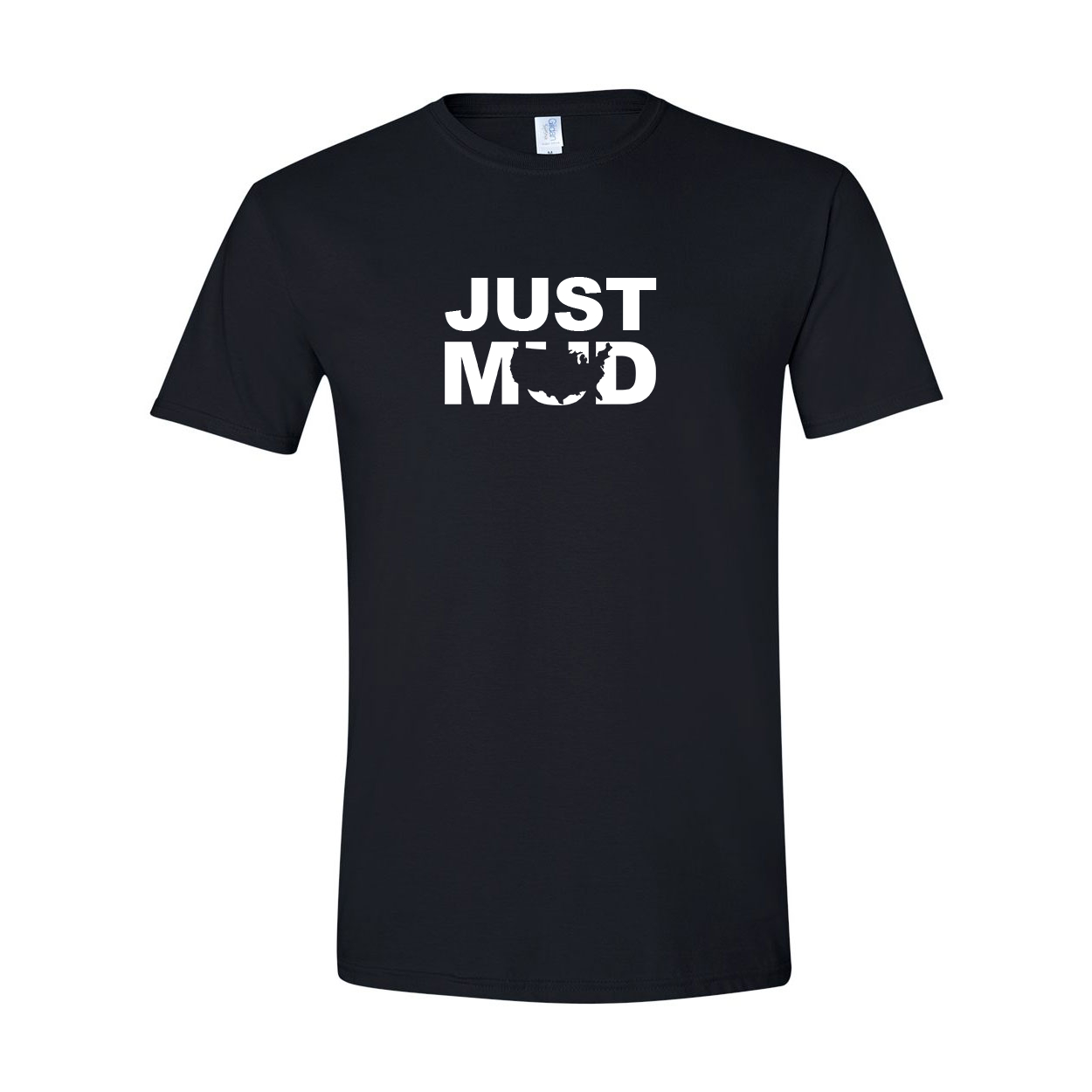 Mud United States JUST MUD T-Shirt Black (White Logo)