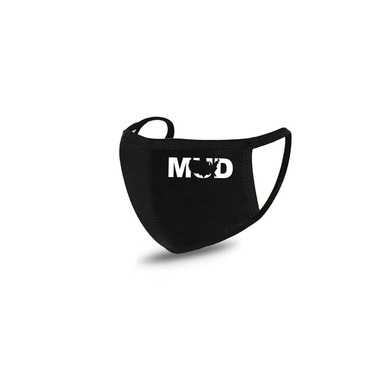 Mud United States Standard Washable Face Mask Black (White Logo)