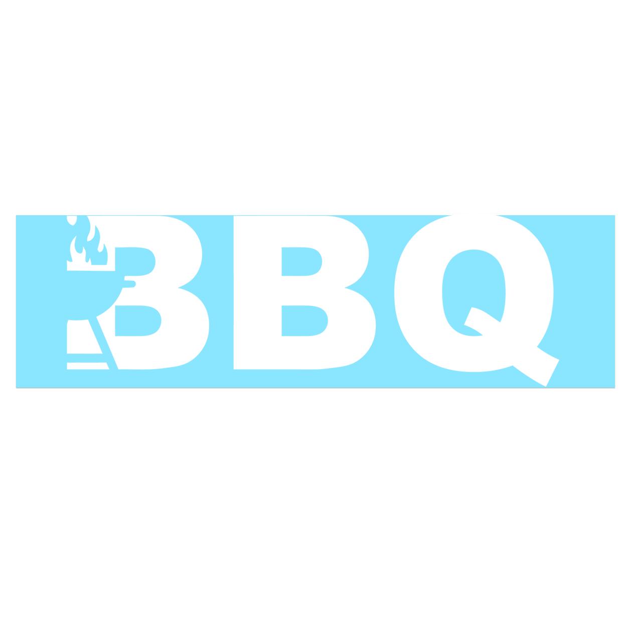 BBQ Grill Logo Classic Decal (White Logo)