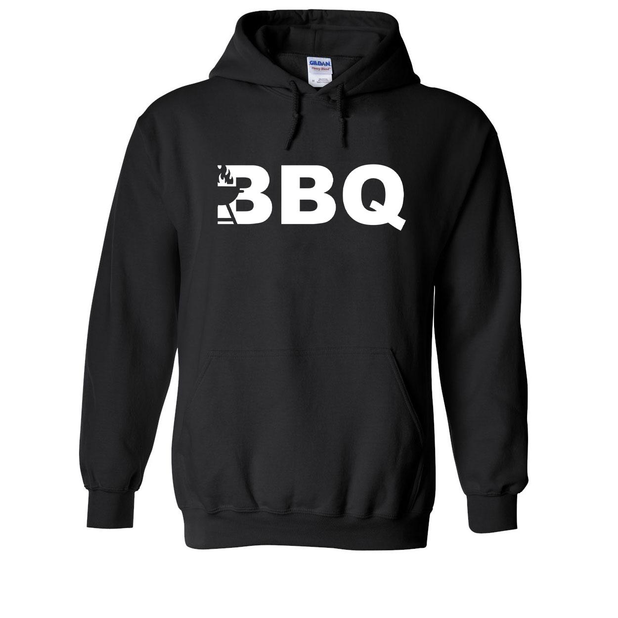 BBQ Grill Logo Classic Sweatshirt Black (White Logo)
