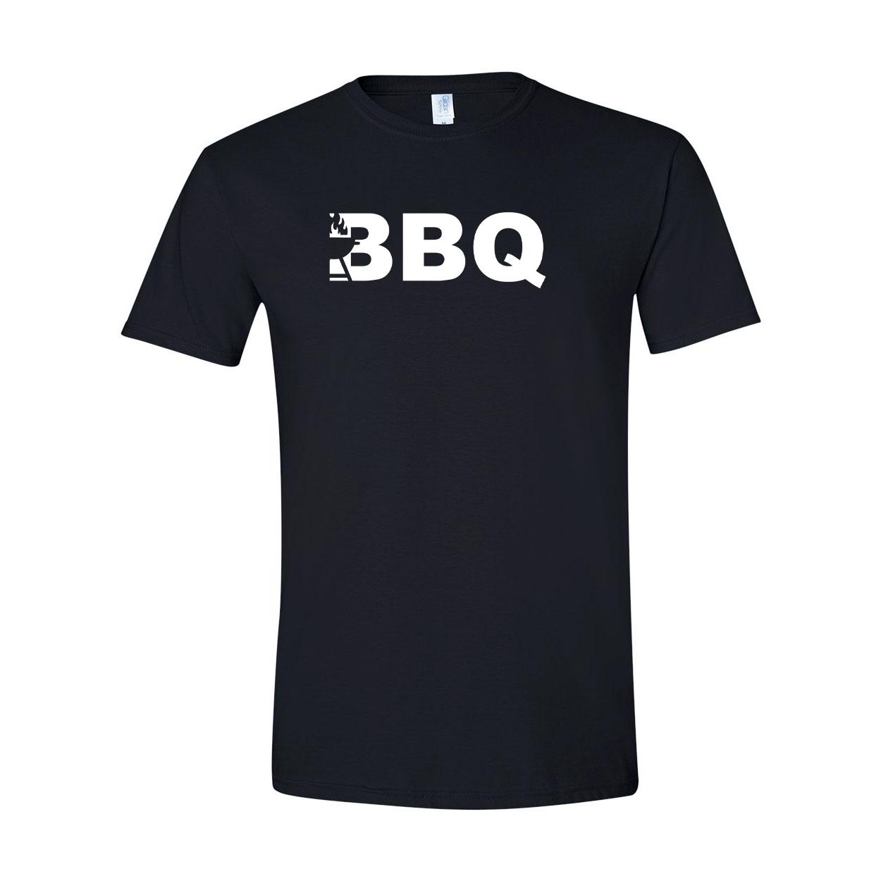 BBQ Grill Logo Classic T-Shirt Black (White Logo)