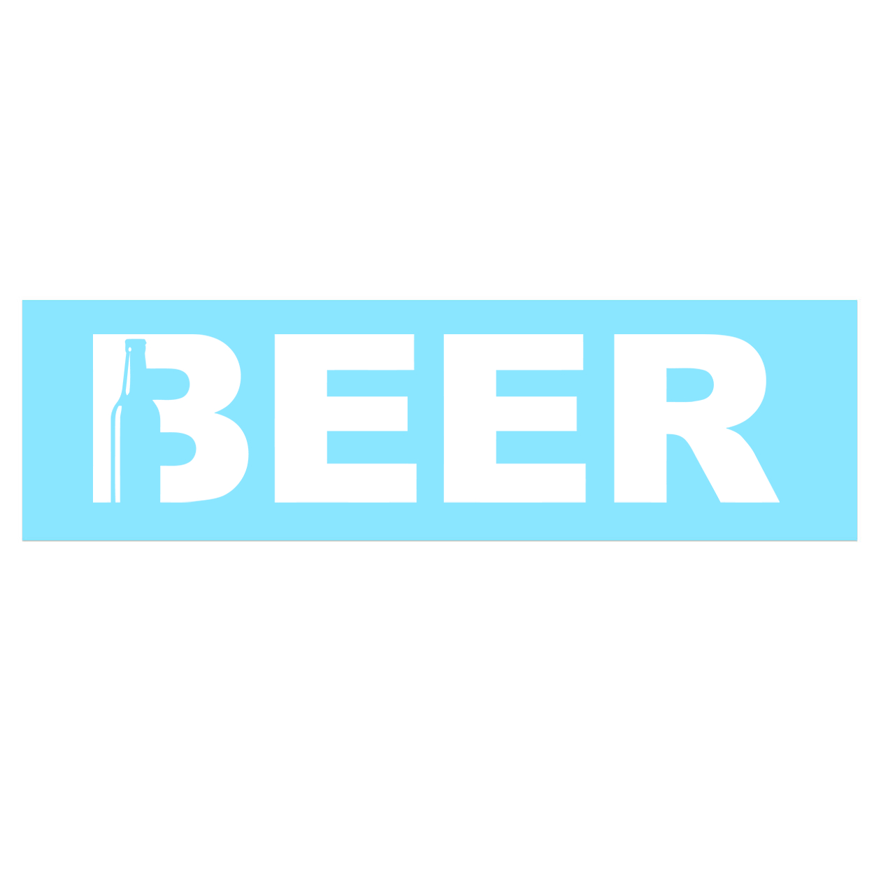 Beer Bottle Logo Classic Decal (White Logo)