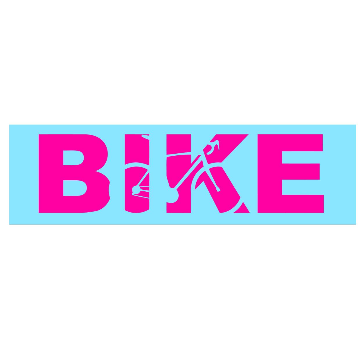 Bike Cycling Logo Classic Decal (Pink Logo)