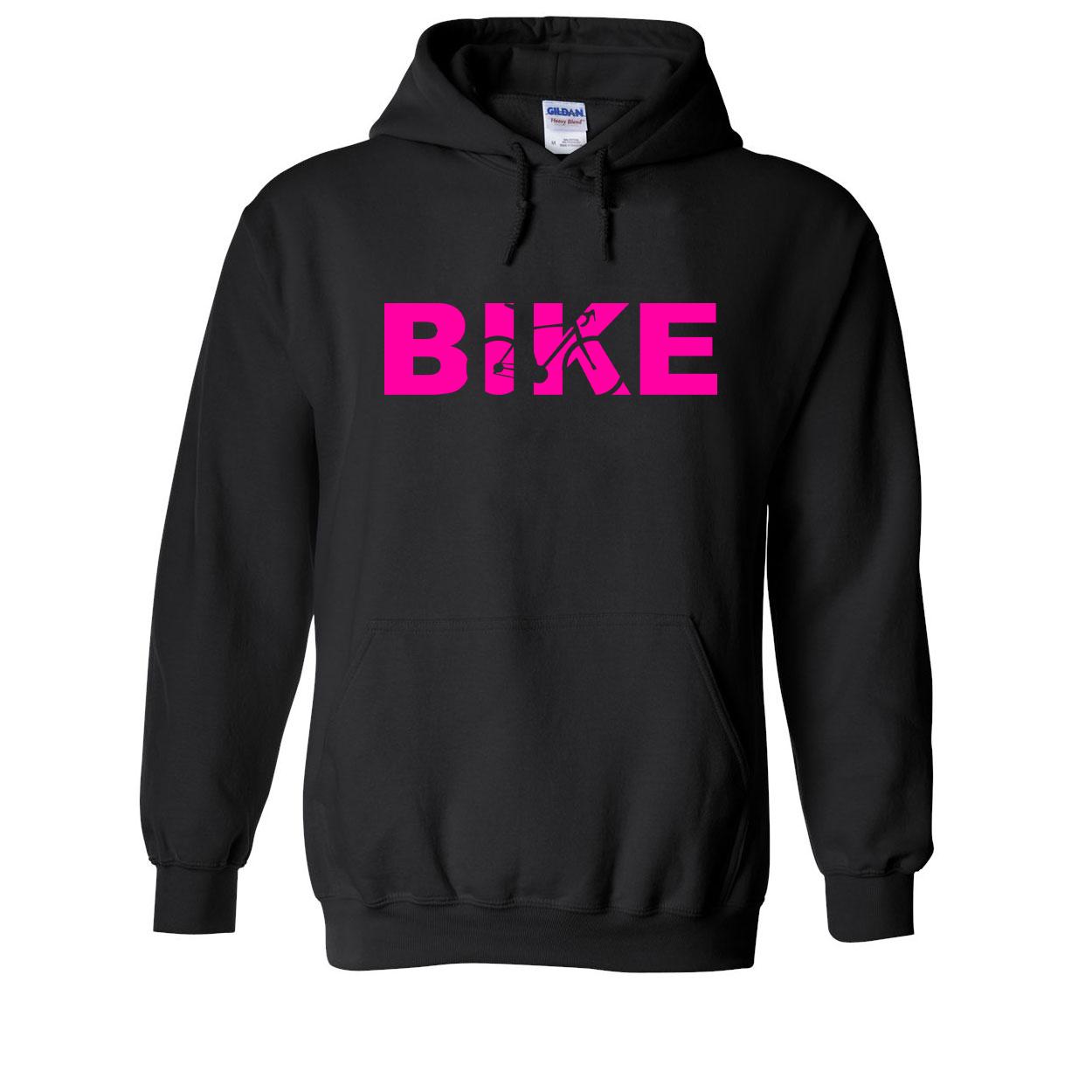 Bike Cycling Logo Classic Sweatshirt Black (Pink Logo)