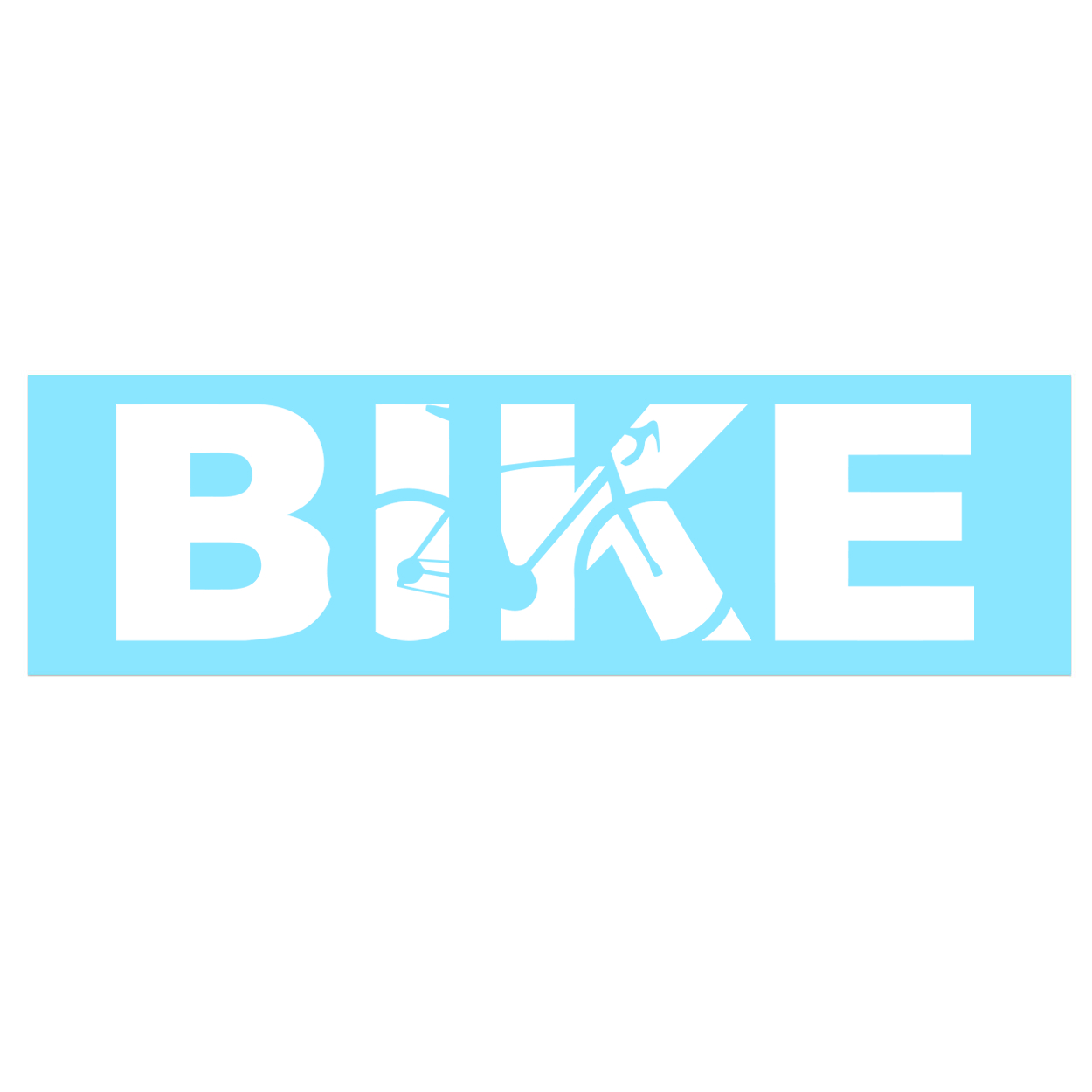 Bike Cycling Logo Classic Decal (White Logo)