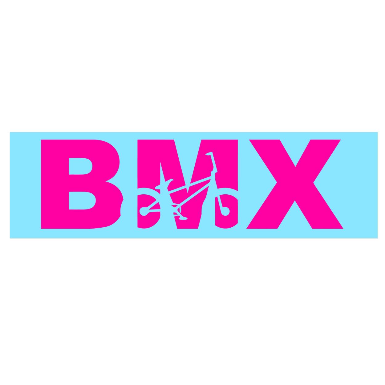 BMX Bike Logo Classic Decal (Pink Logo)