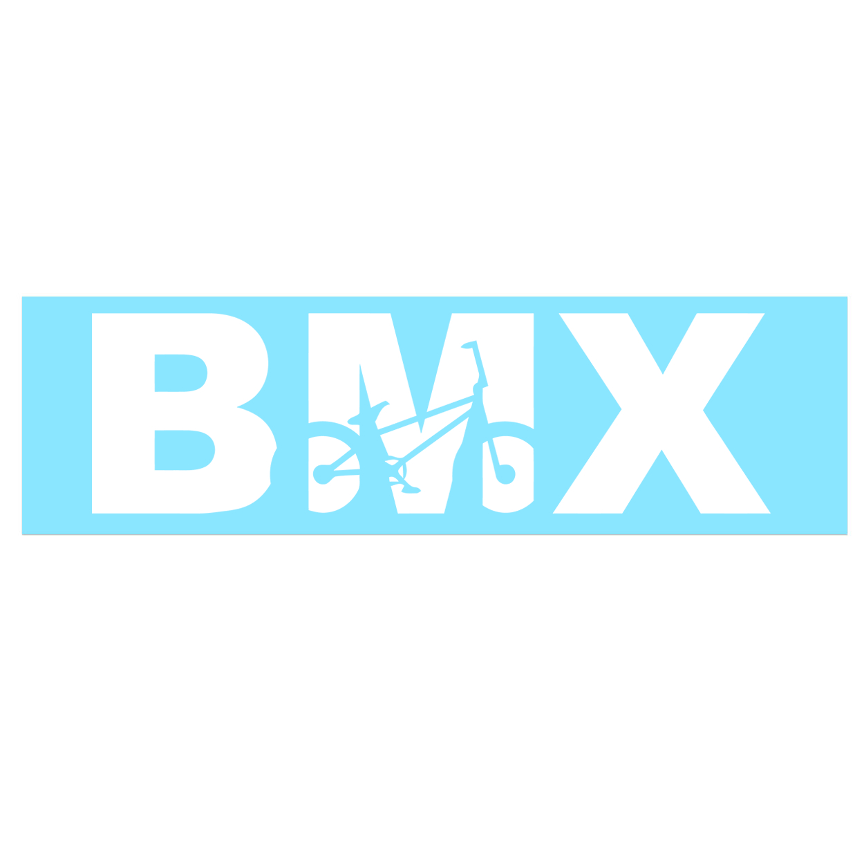 BMX Bike Logo Classic Decal (White Logo)
