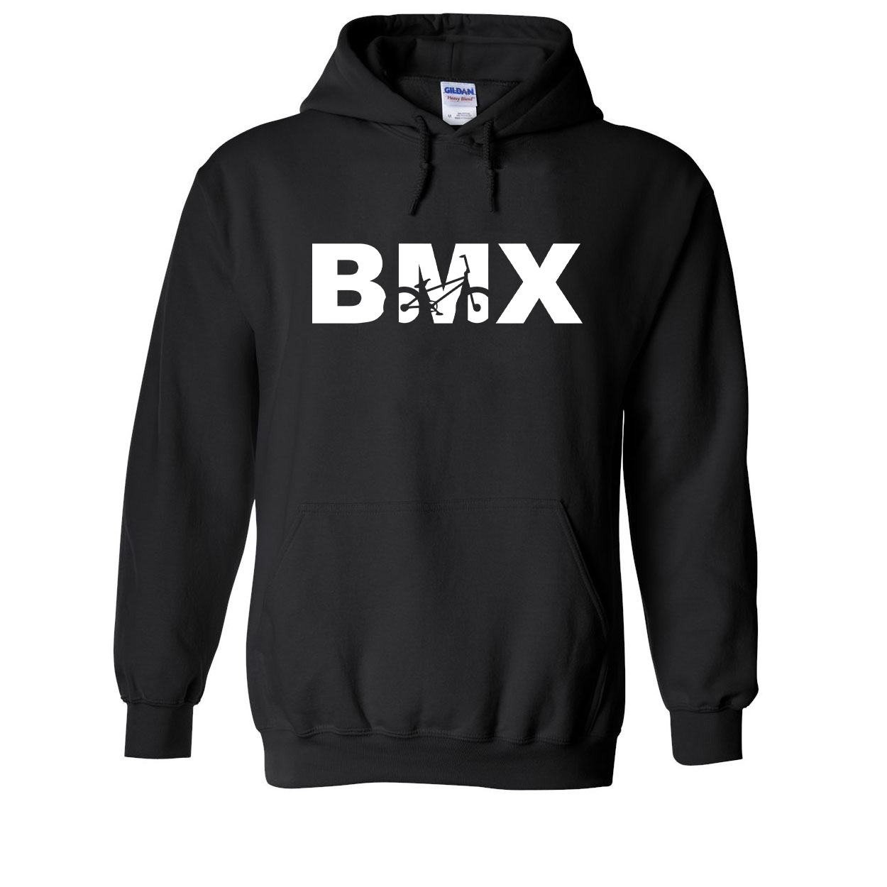 BMX Bike Logo Classic Sweatshirt Black (White Logo)