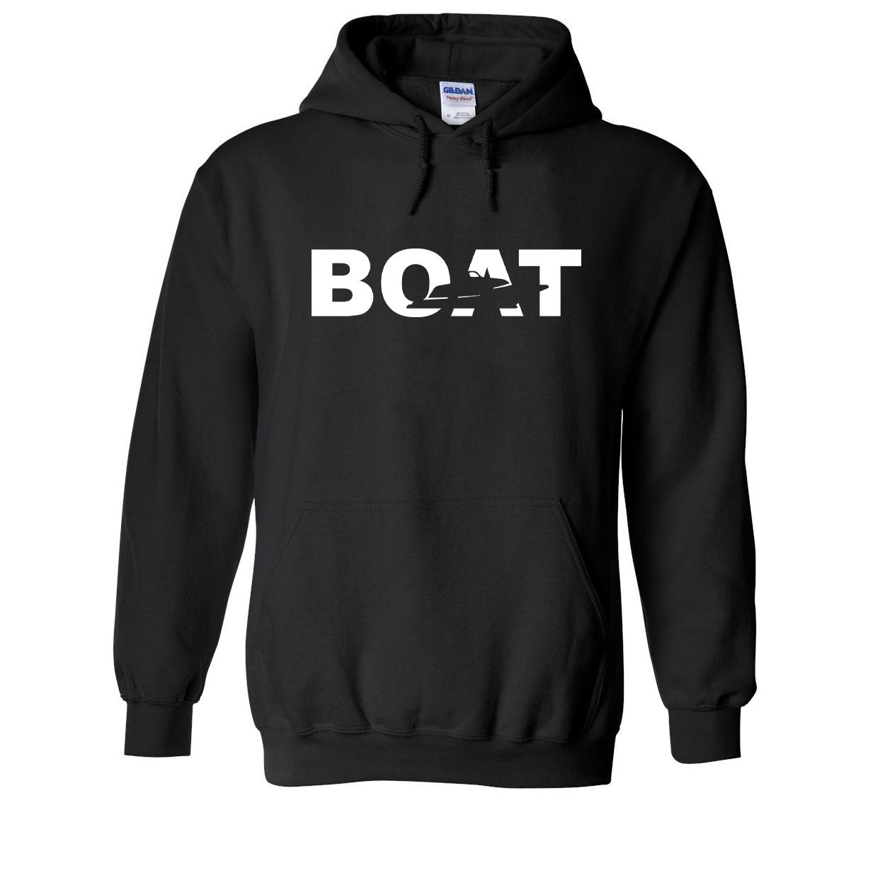 Boat Yacht Logo Classic Sweatshirt Black (White Logo)