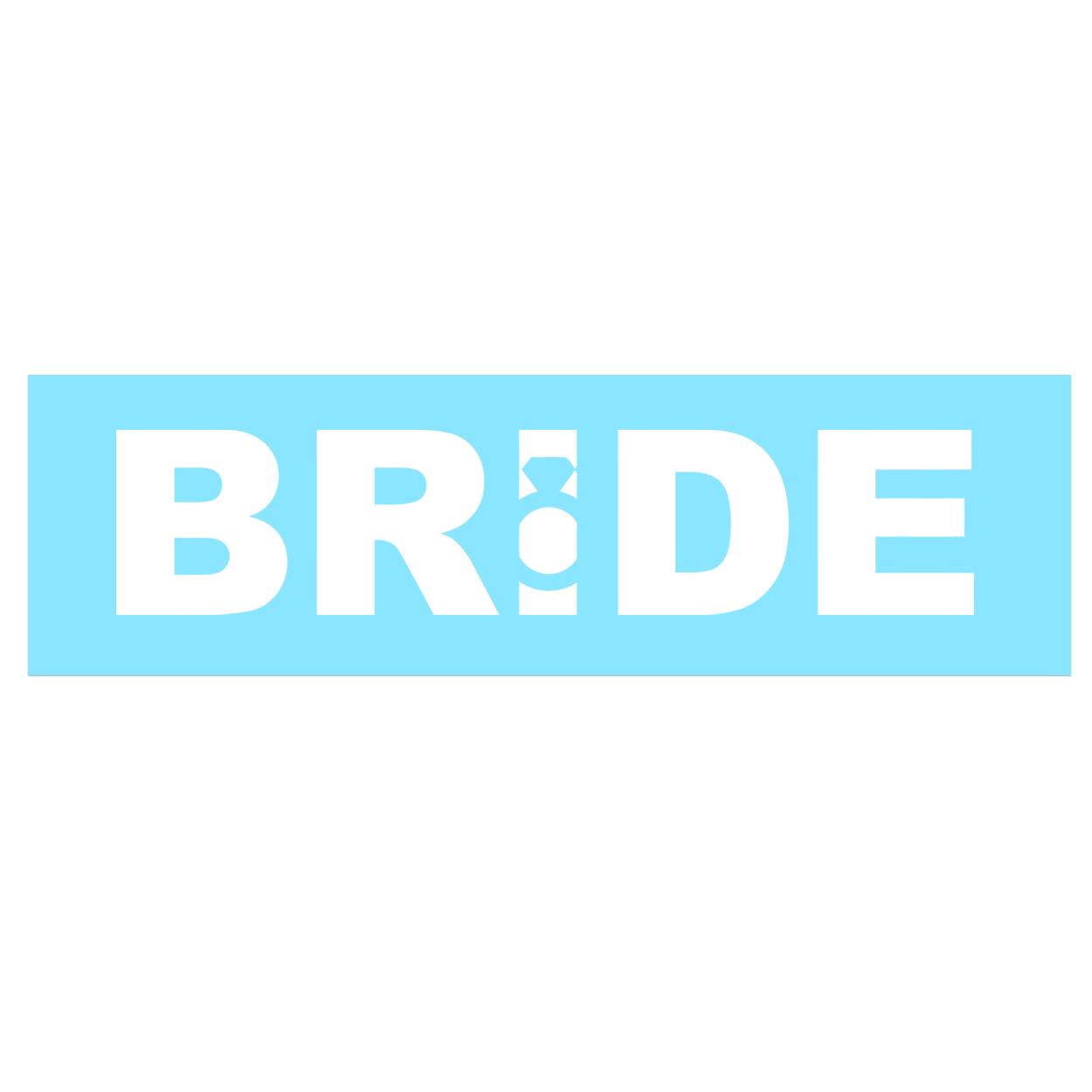 Bride Ring Logo Classic Decal (White Logo)