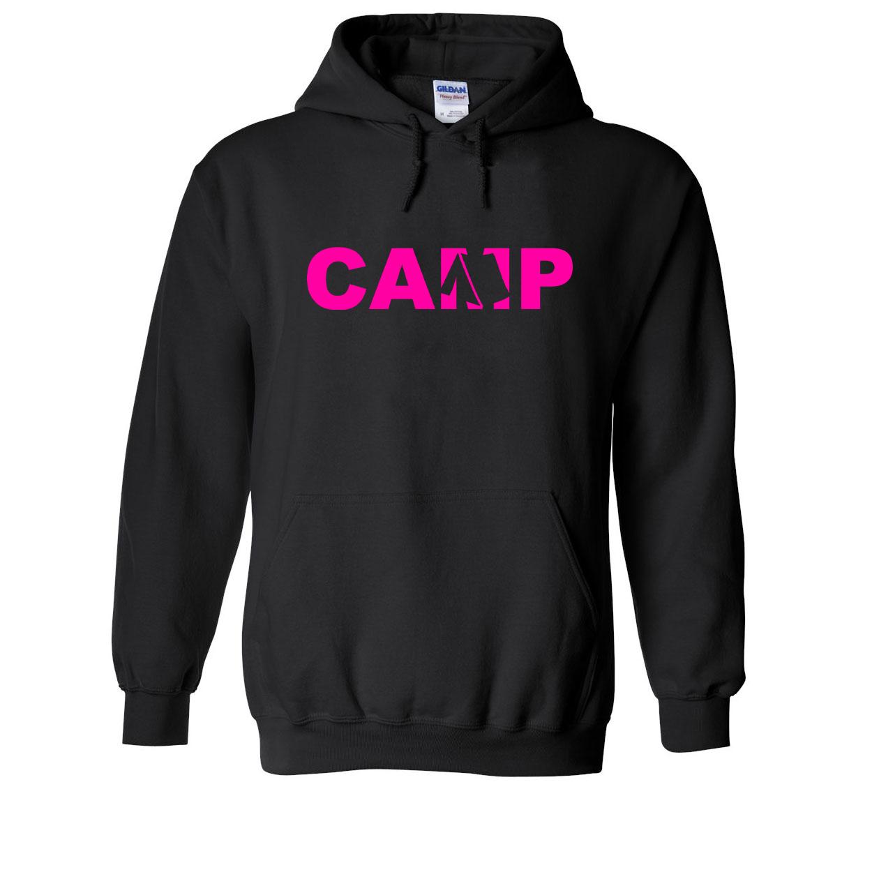 Camp Tent Logo Classic Sweatshirt Black (Pink Logo)