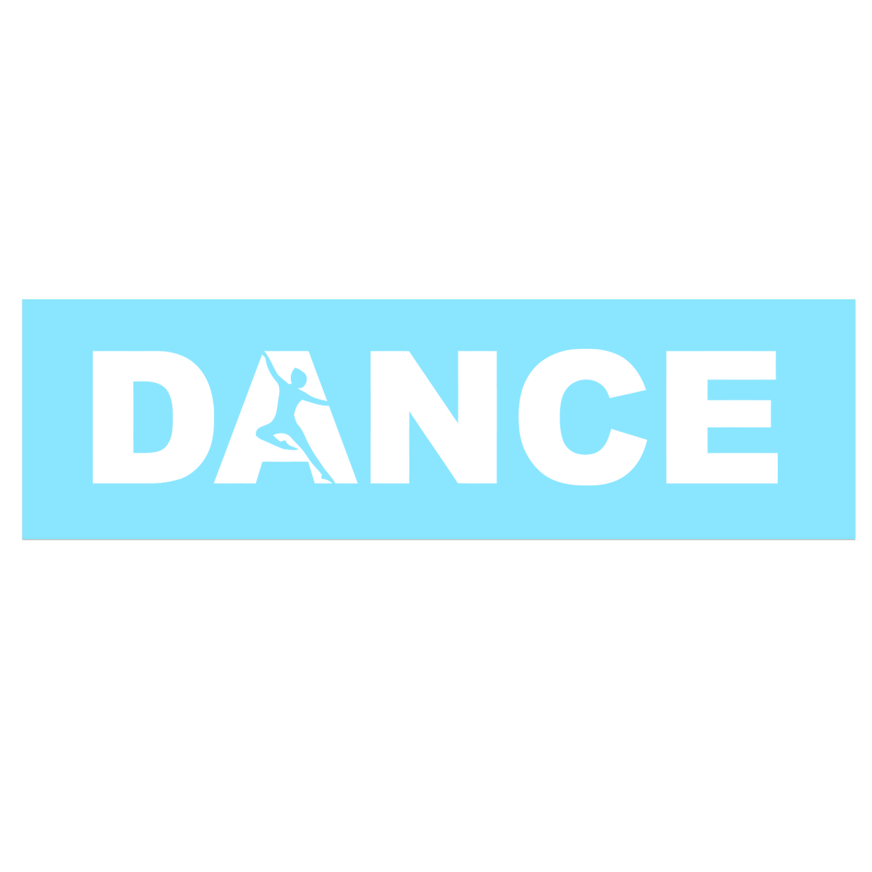 Dance Silhouette Logo Classic Decal (White Logo)