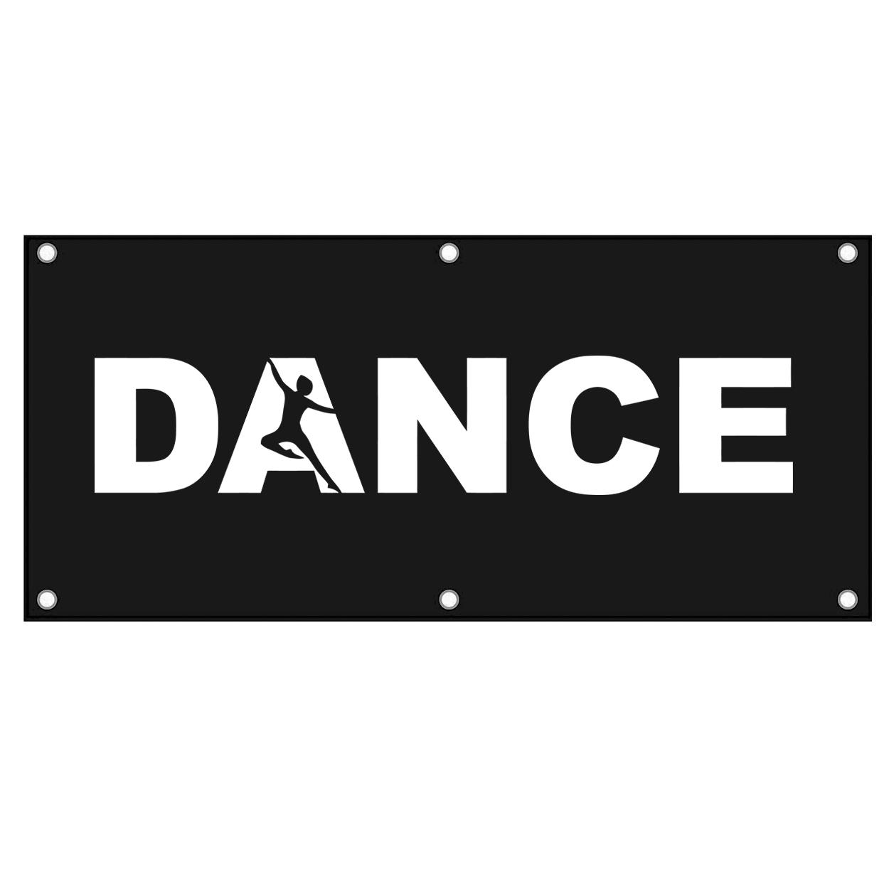 Dance Silhouette Logo Classic Banner (White Logo)