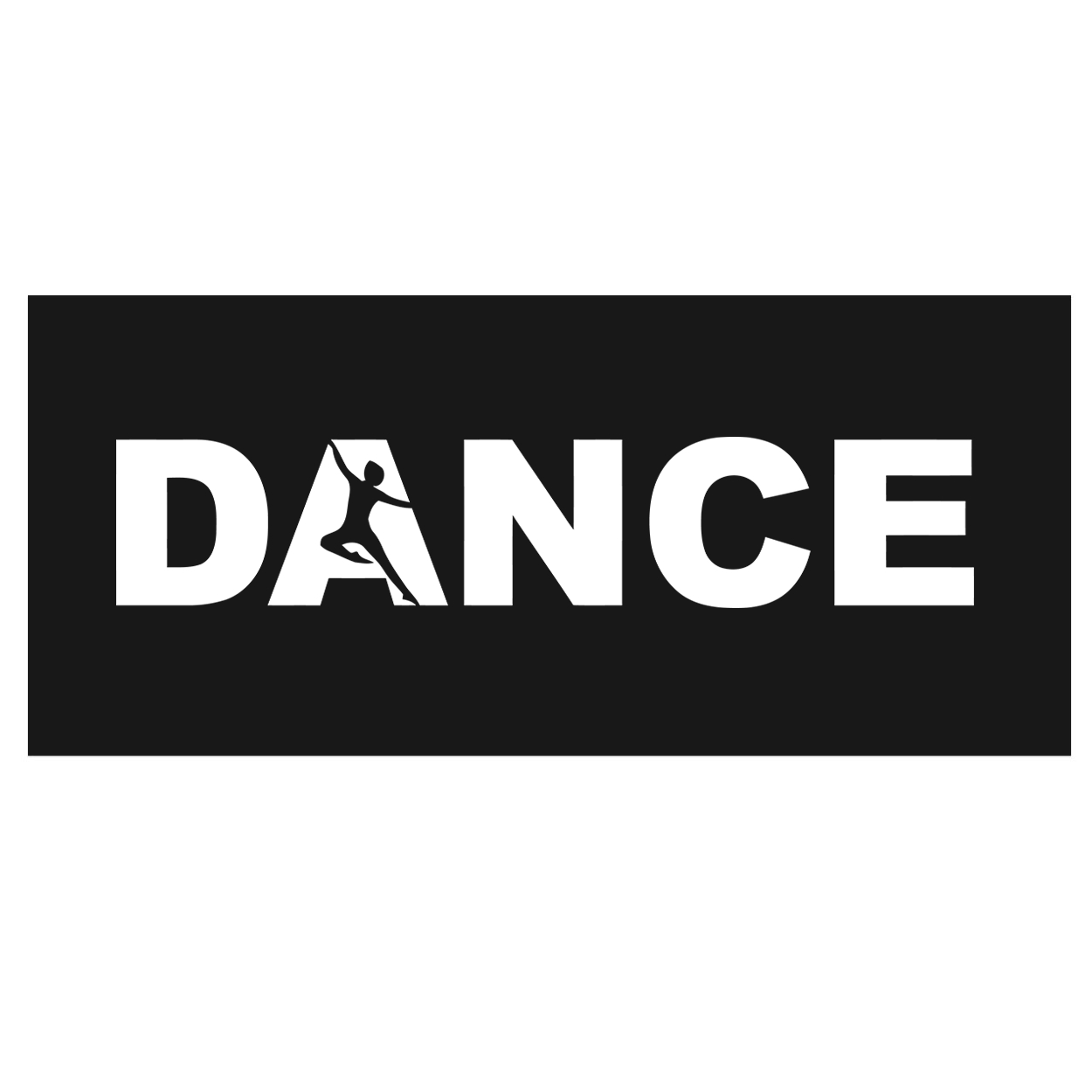 Dance Silhouette Logo Classic Hardboard Sign (White Logo)