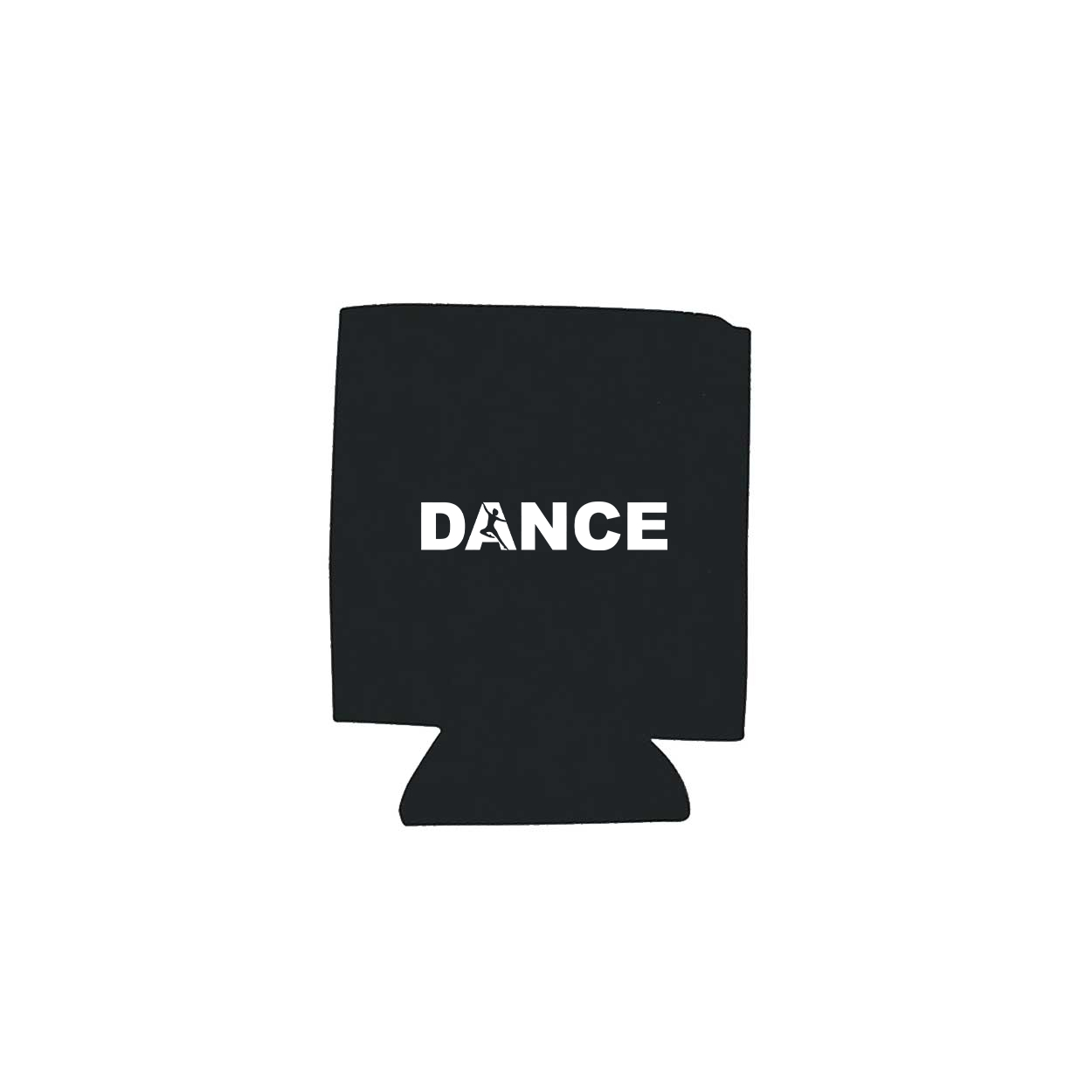 Dance Silhouette Logo Koozie Black (White Logo)