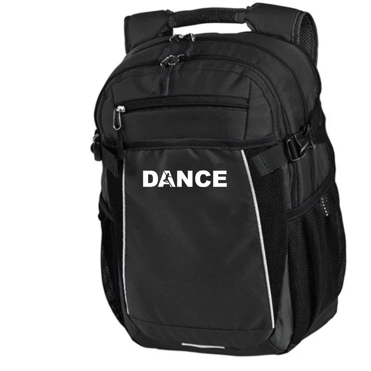 Dance Silhouette Logo Classic Pro Pioneer Backpack Black (White Logo)
