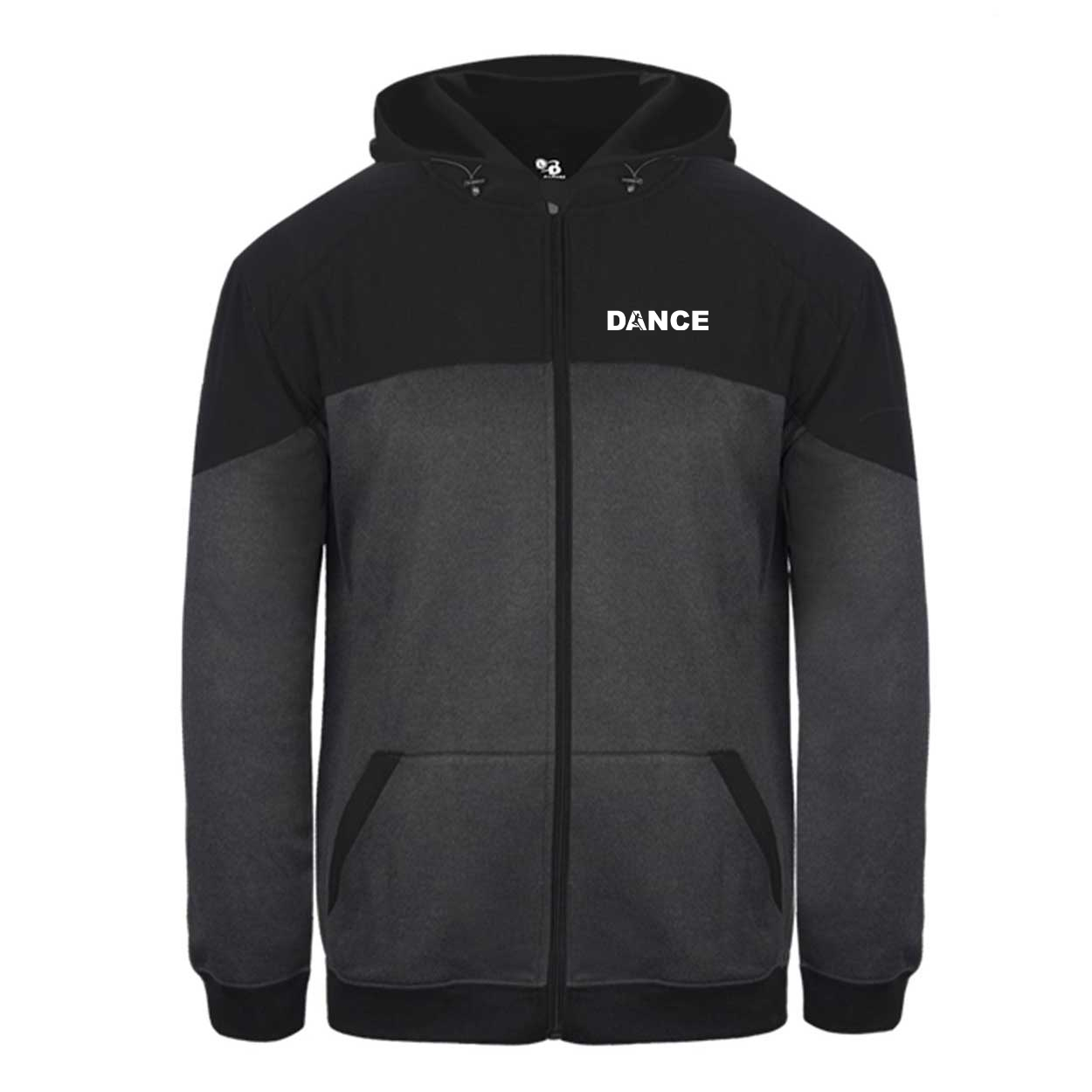 Dance Silhouette Logo Classic Vindicator Jacket Carbon Heather/Black (White Logo)