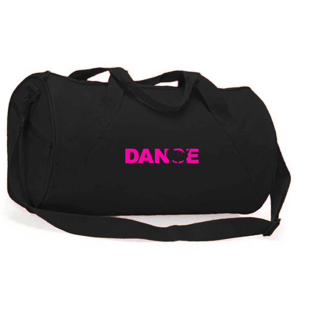 Dance United States Classic Barrel Duffel Bag Black (Pink Logo)