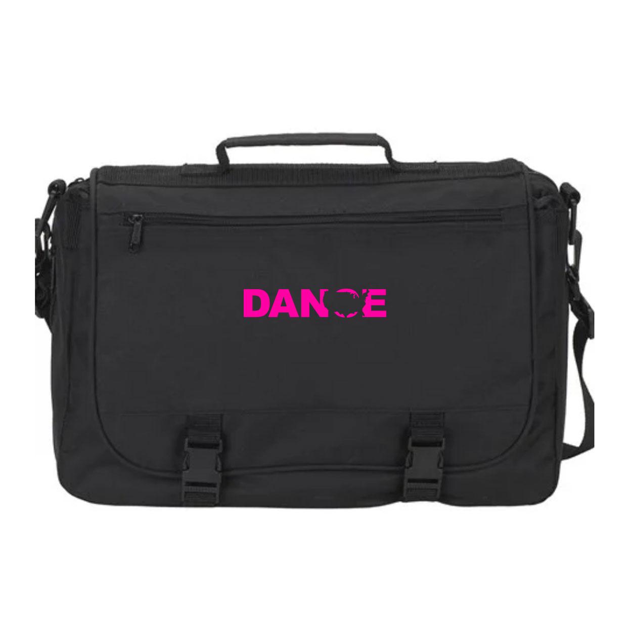Dance United States Classic Executive Laptop Saddlebag Black (Pink Logo)