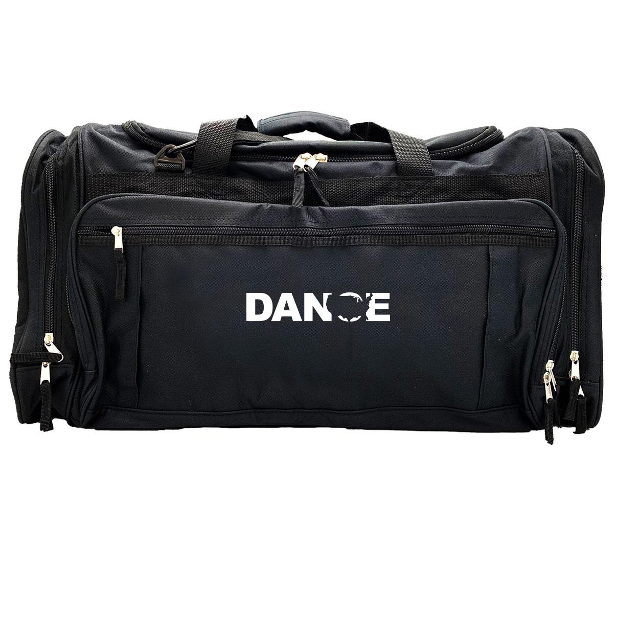 Dance United States Classic Explorer Large Duffel Bag Black (White Logo)