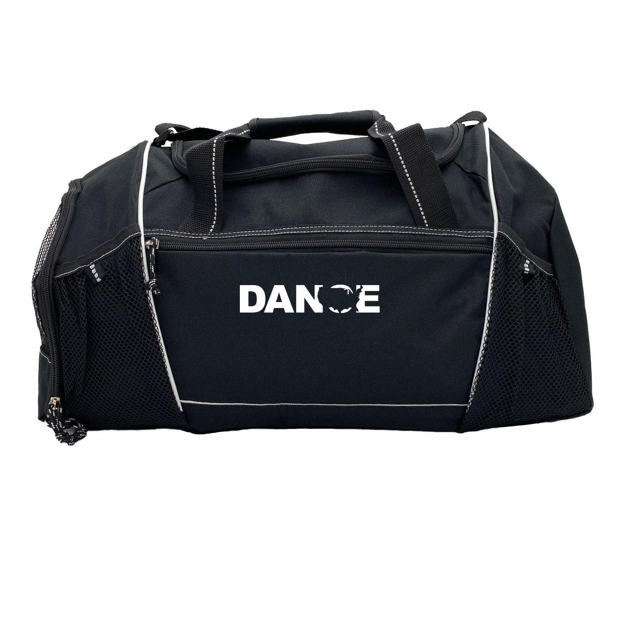 Dance United States Classic Endurance Sport Duffel Bag Black (White Logo)