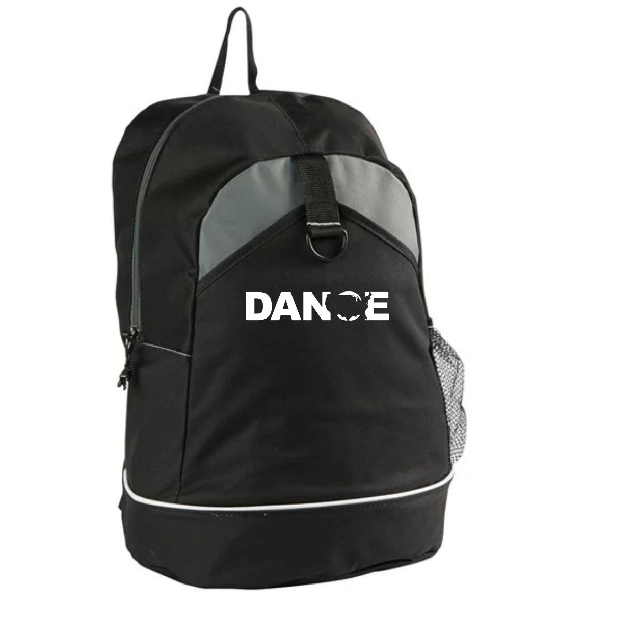 Dance United States Classic Canyon Backpack Black (White Logo)