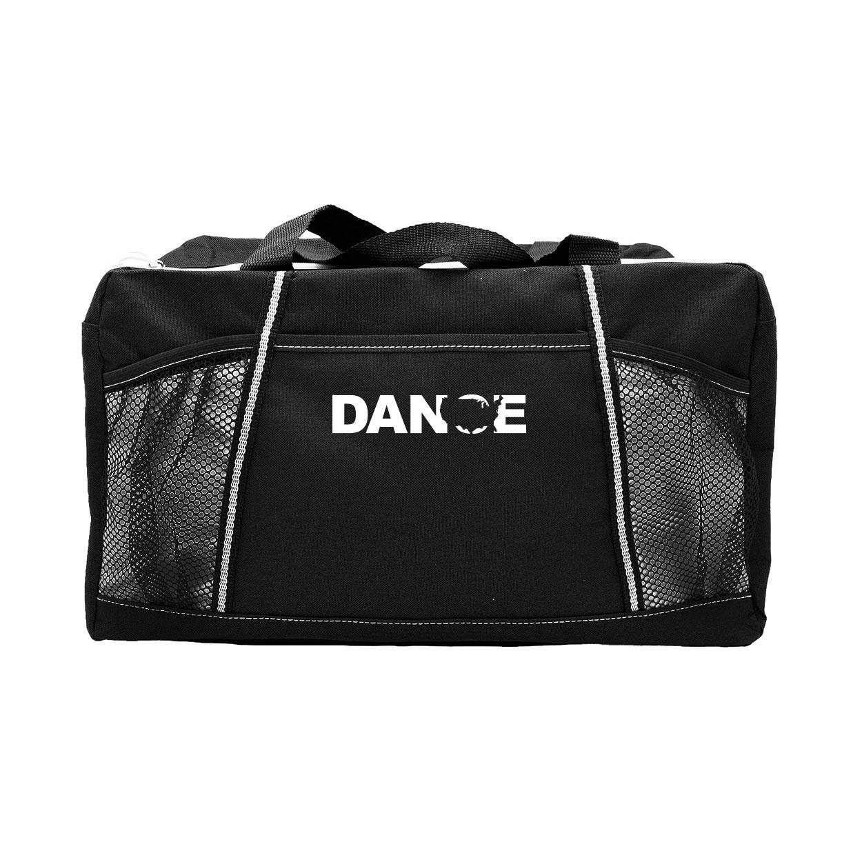 Dance United States Classic Champion Sport Duffel Bag Black (White Logo)