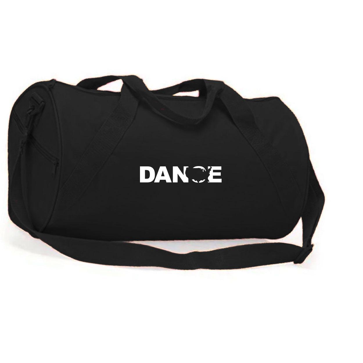 Dance United States Classic Barrel Duffel Bag Black (White Logo)