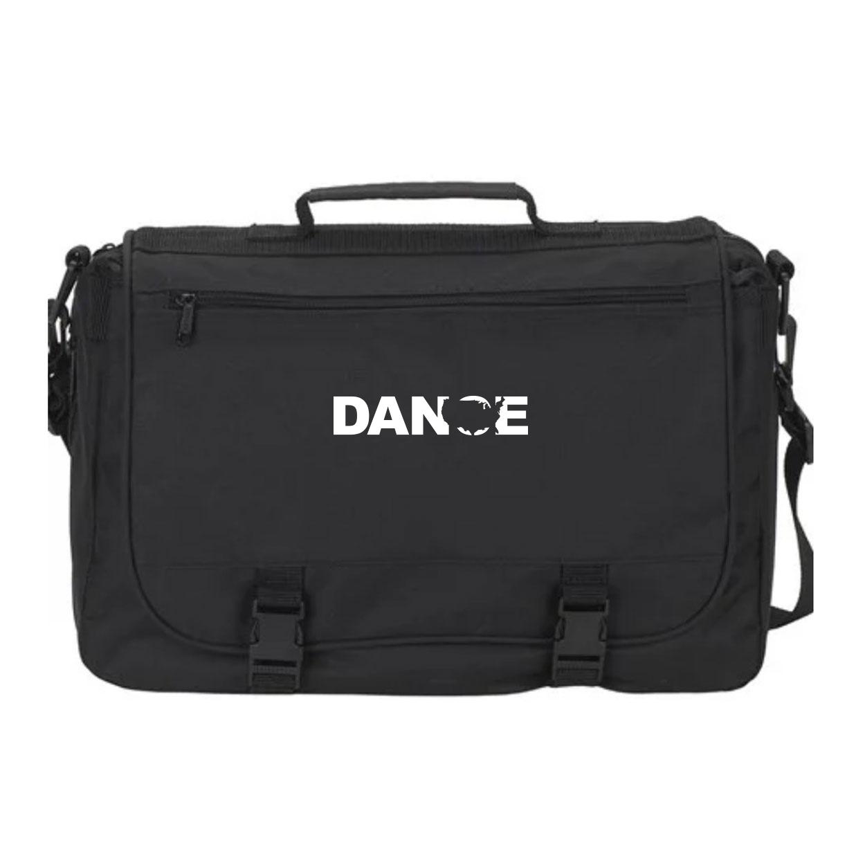 Dance United States Classic Executive Laptop Saddlebag Black (White Logo)