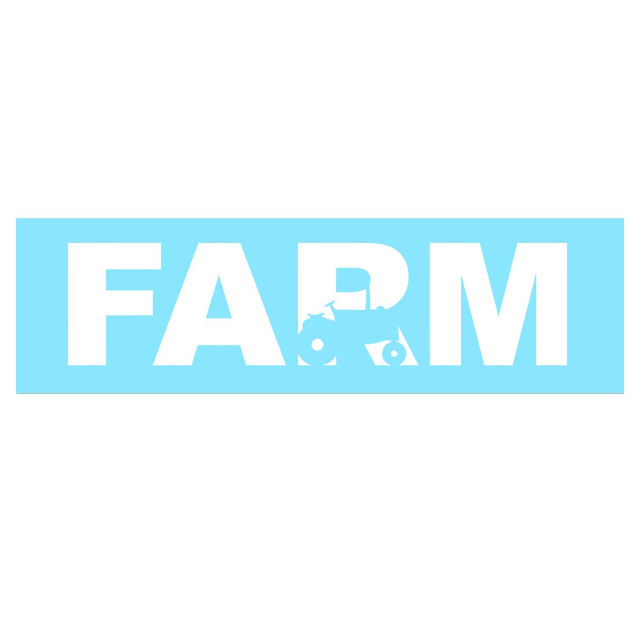 Farm Tractor Logo Classic Decal (White Logo)