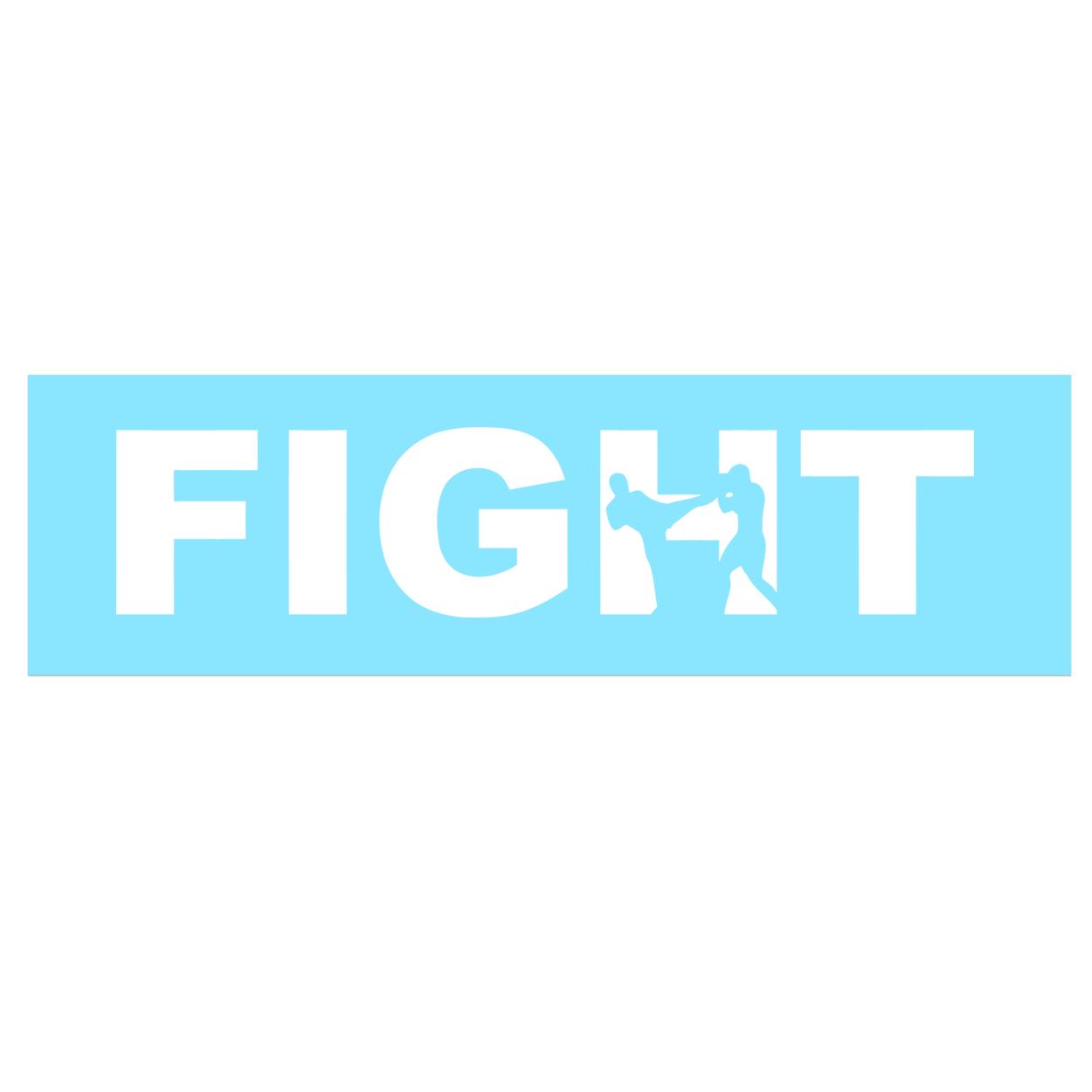 Fight Kick Logo Classic Decal (White Logo)