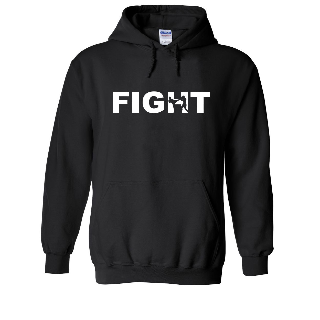 Fight Kick Logo Classic Sweatshirt Black (White Logo)