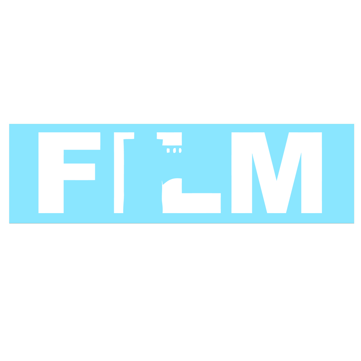 Film Roll Logo Classic Decal (White Logo)
