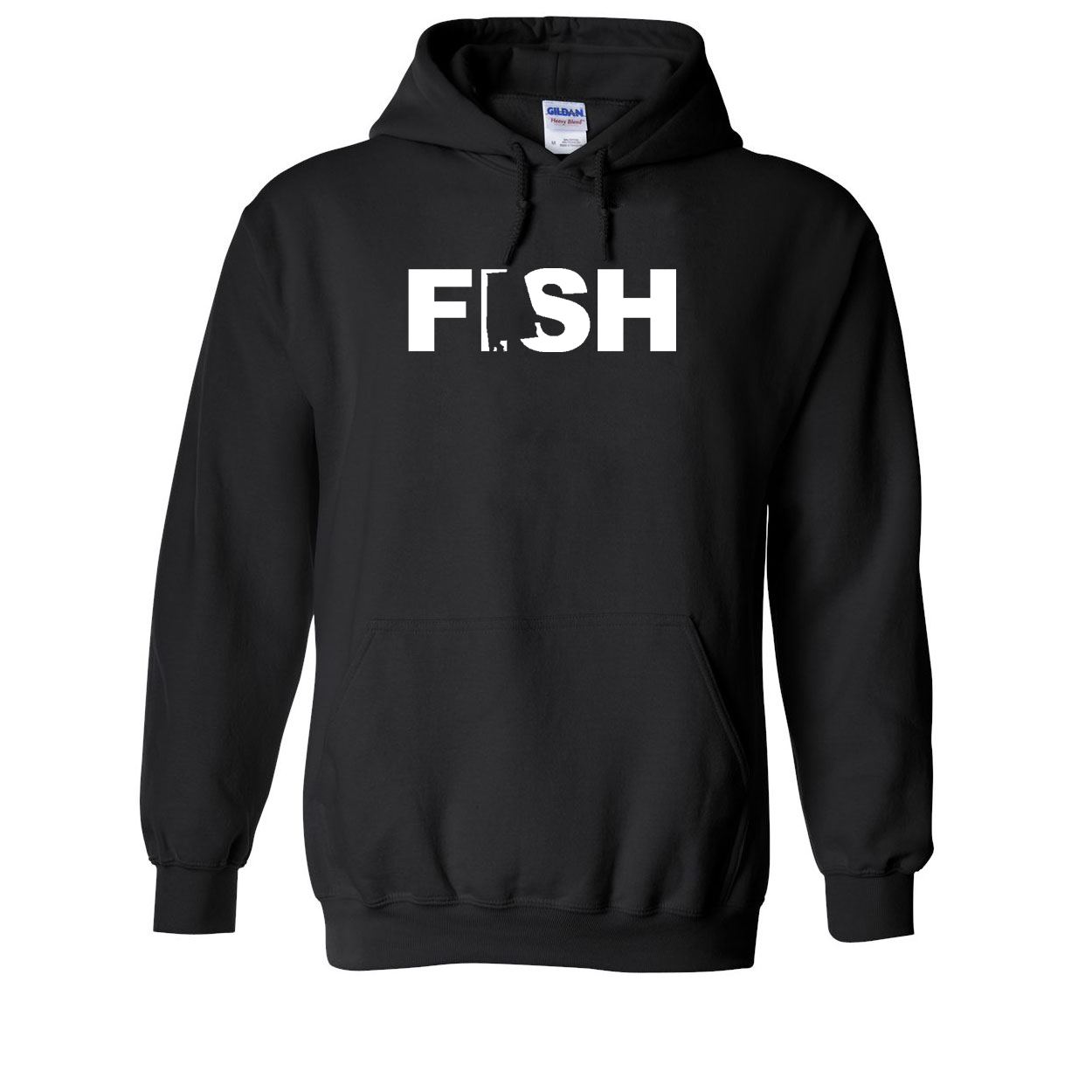 Fish Alabama Classic Sweatshirt Black (White Logo)