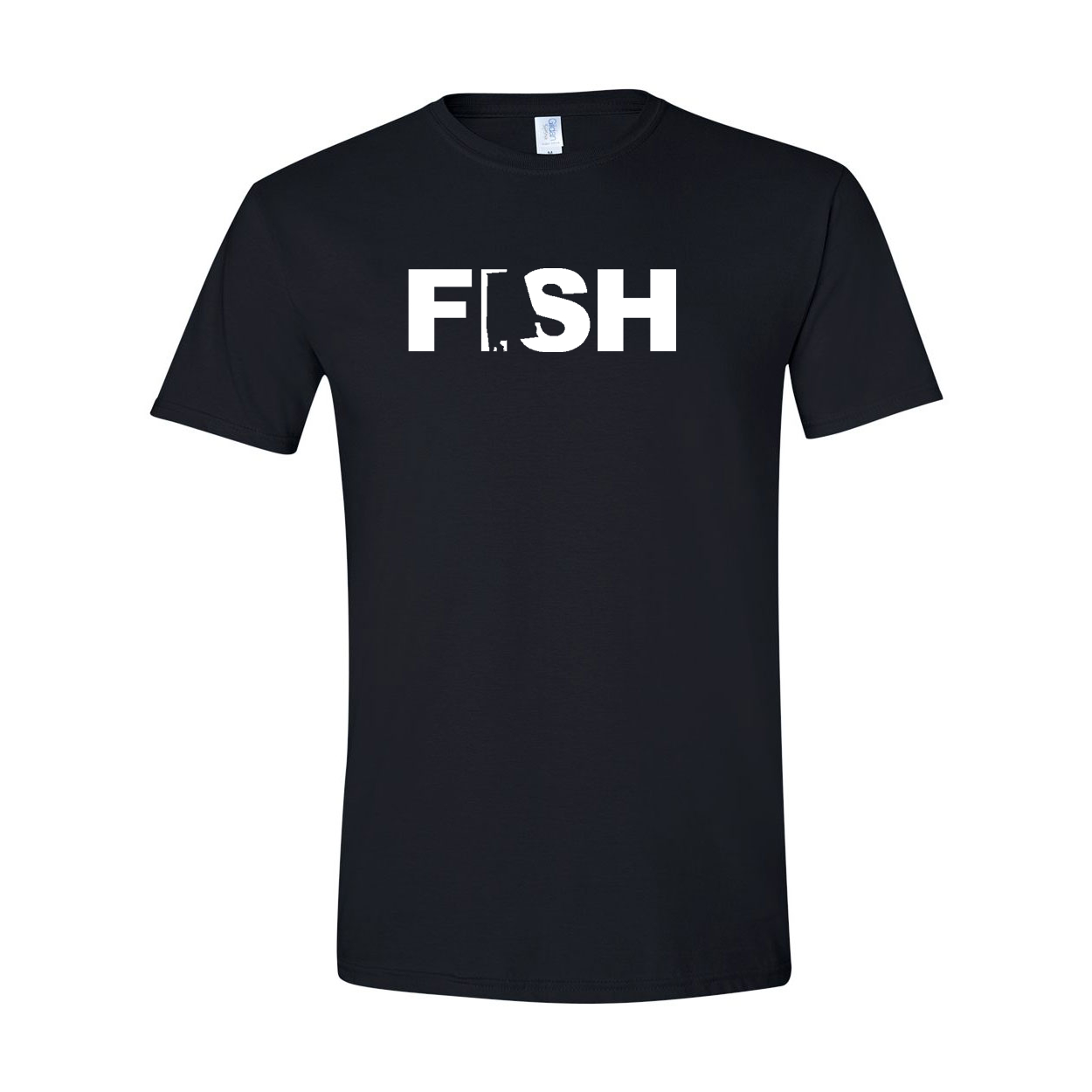 Fish Alabama Classic T-Shirt Black (White Logo)