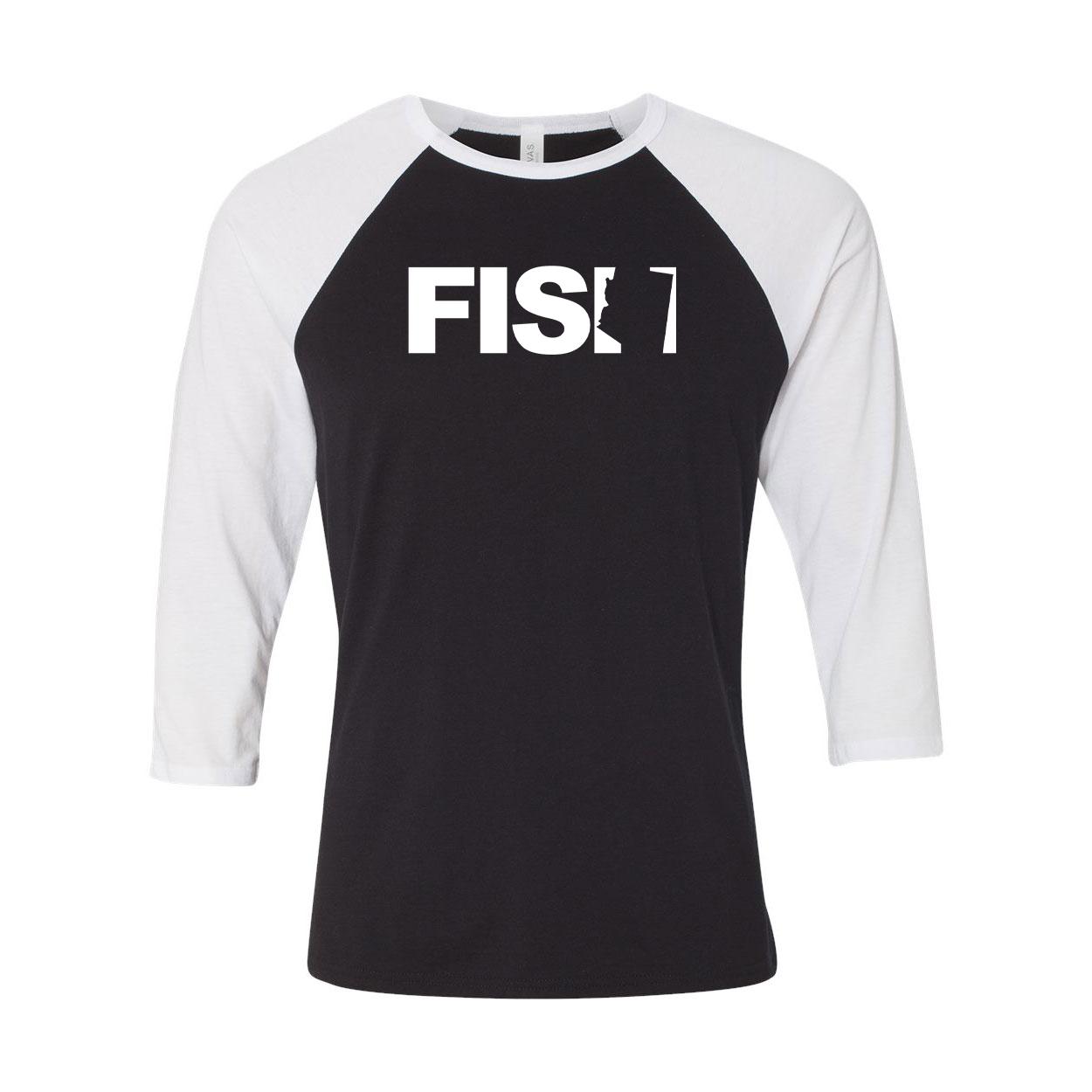Fish Arizona Classic Raglan Shirt Black/White (White Logo)