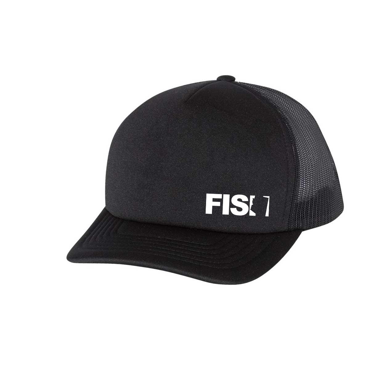 Fish Arizona Night Out Premium Foam Trucker Snapback Hat Black (White Logo)