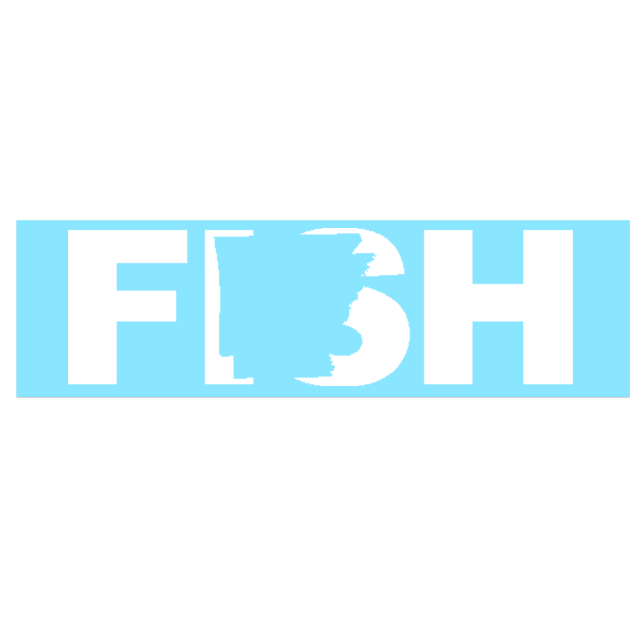 Fish Arkansas Classic Decal (White Logo)