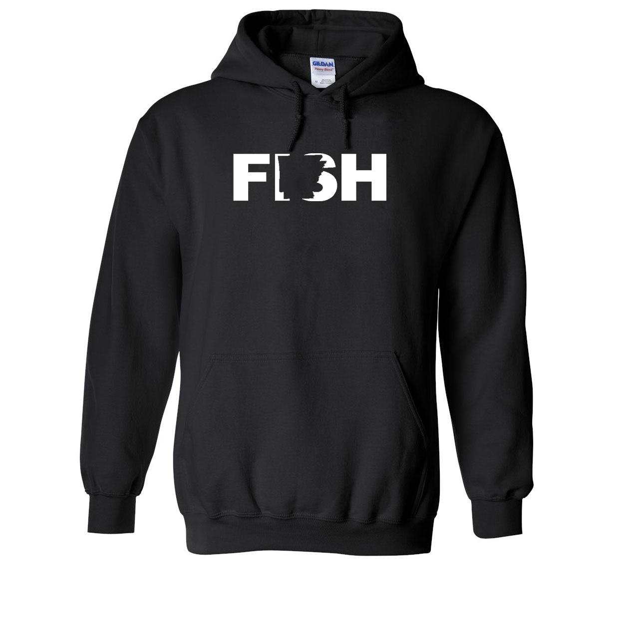 Fish Arkansas Classic Sweatshirt Black (White Logo)