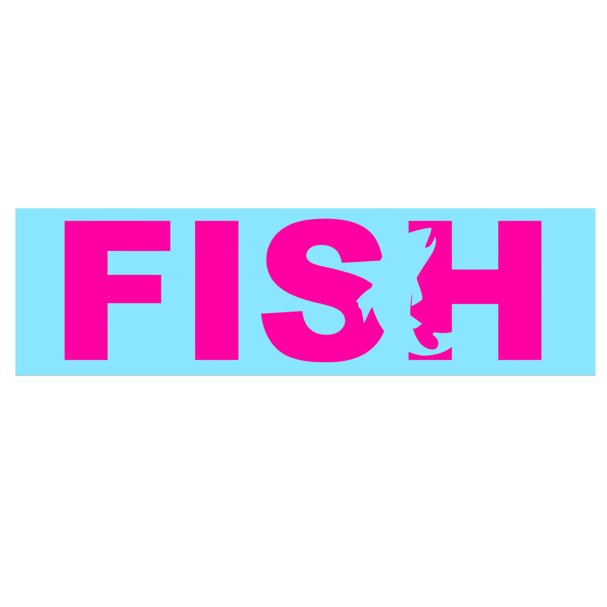 Fish Catch Logo Classic Decal (Pink Logo)