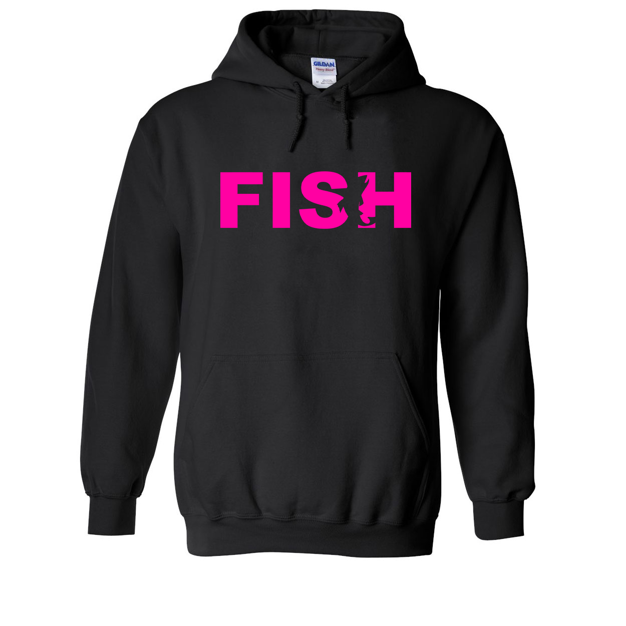 Fish Catch Logo Classic Sweatshirt Black (Pink Logo)