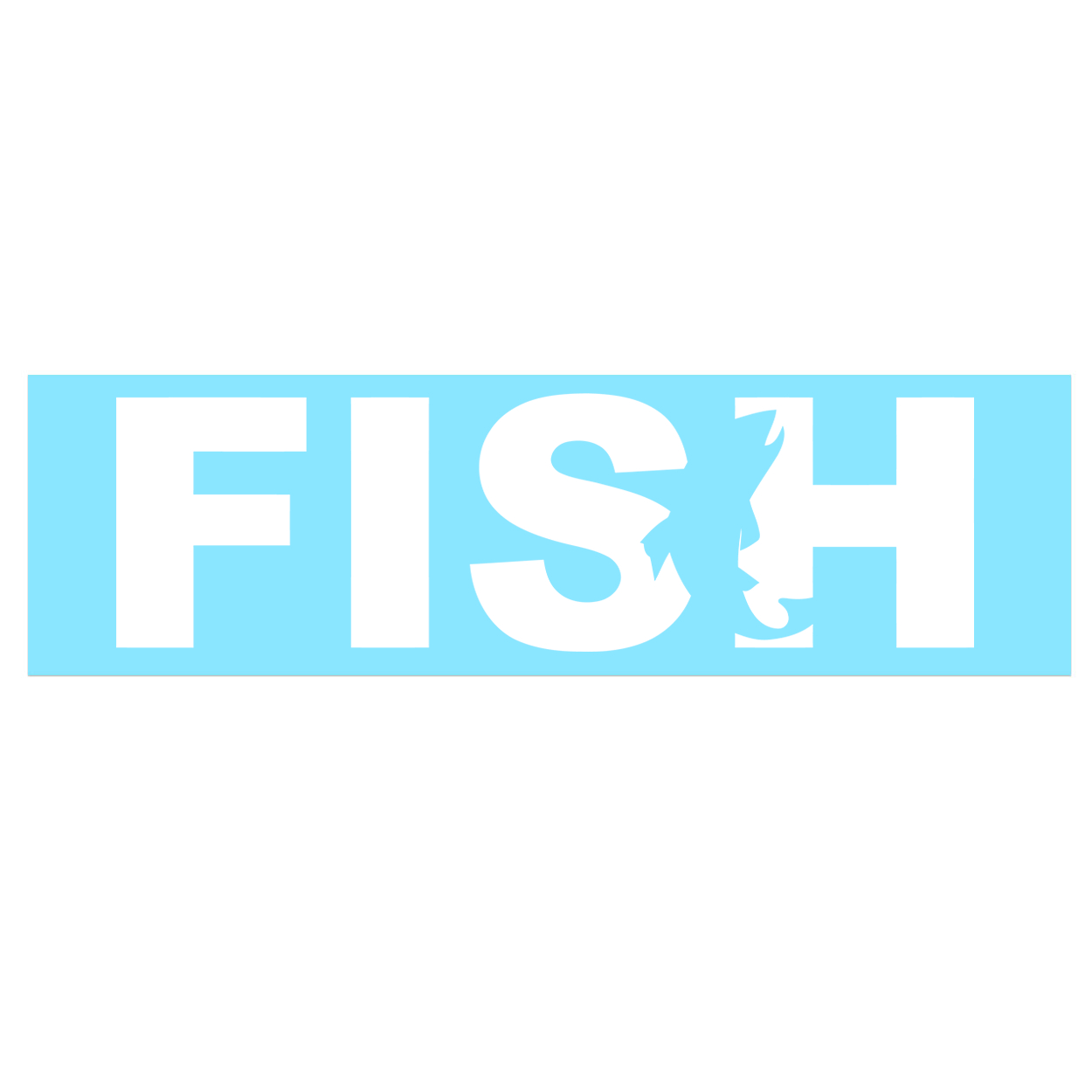 Fish Catch Logo Classic Decal (White Logo)