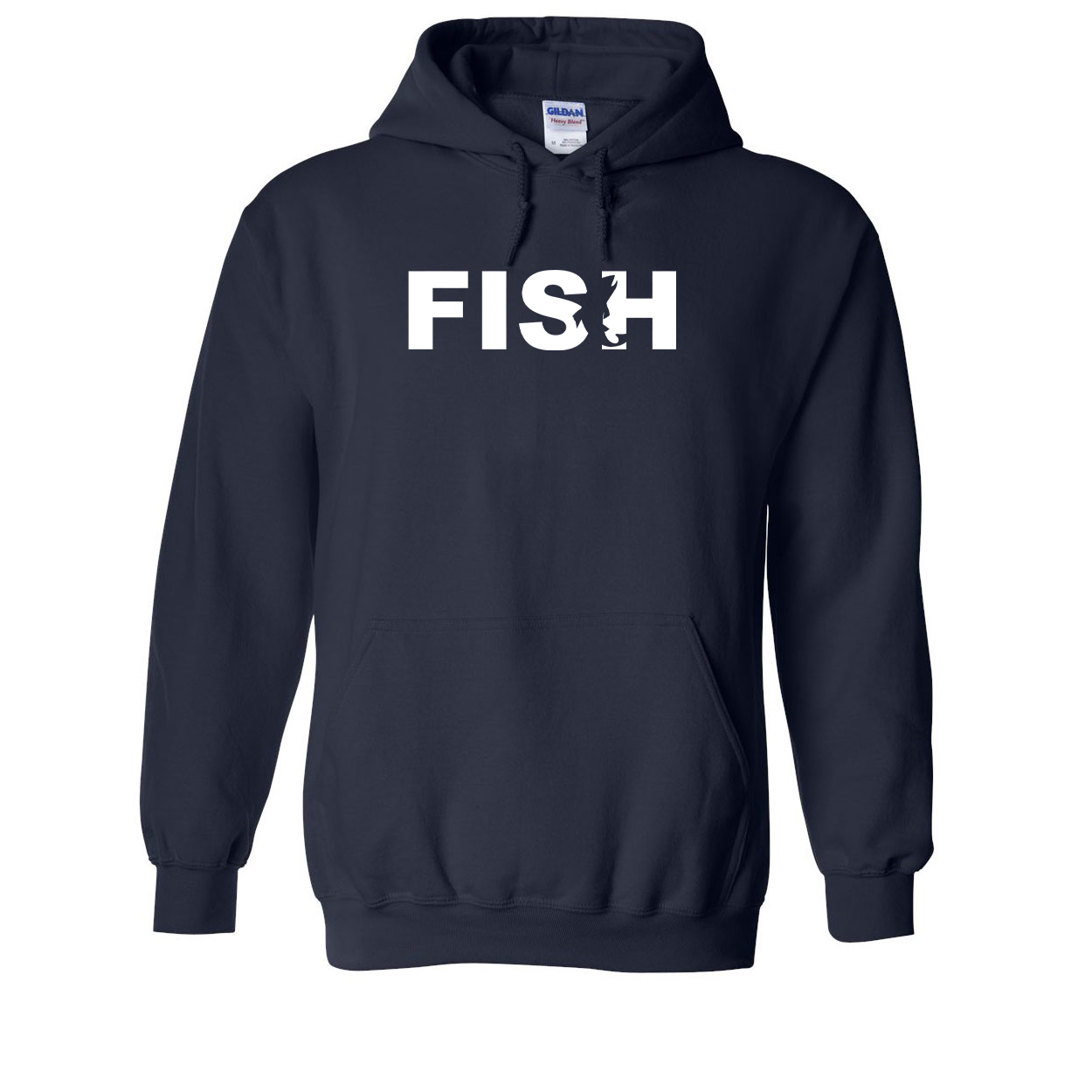 Fish Catch Logo Classic Sweatshirt Navy (White Logo)