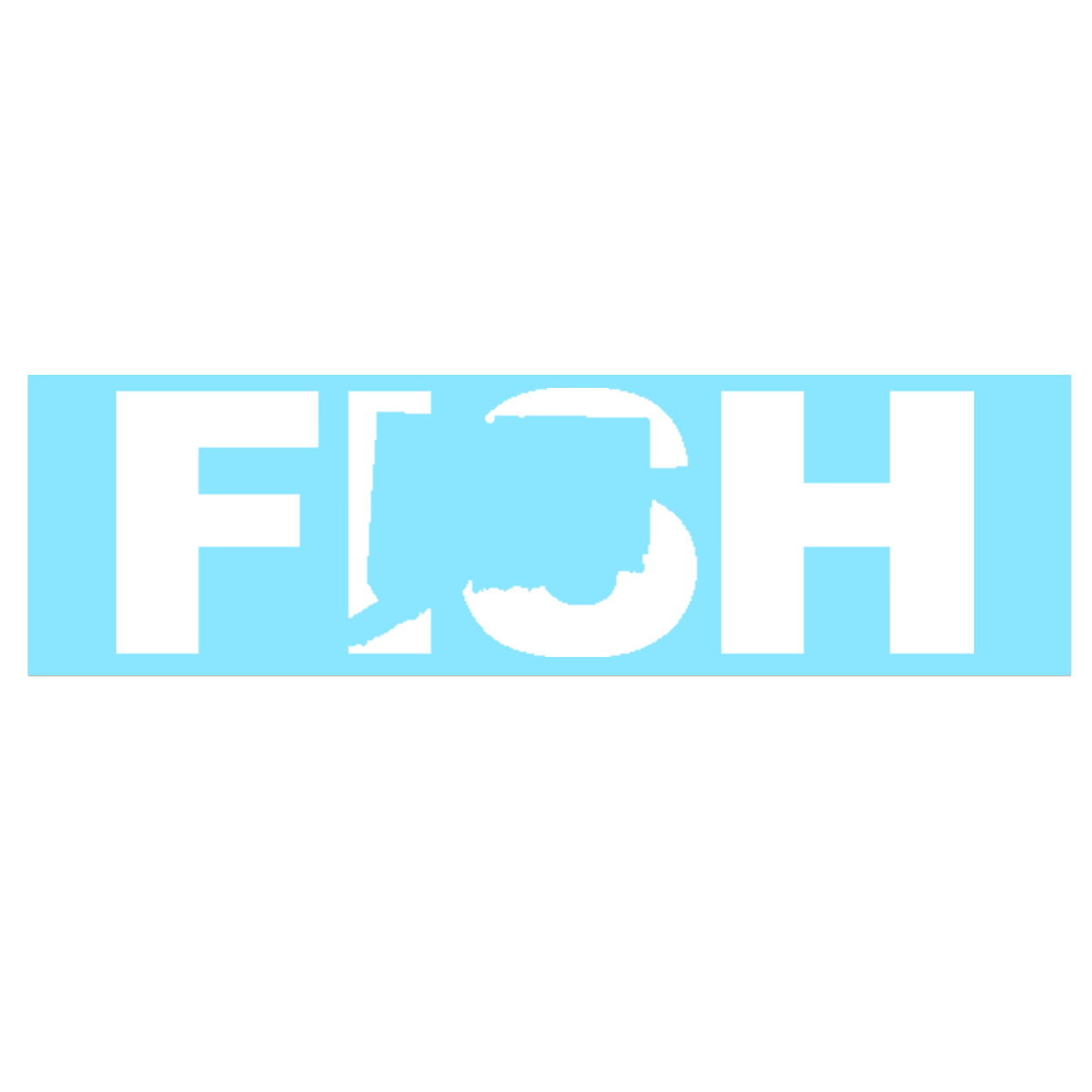 Fish Connecticut Classic Decal (White Logo)