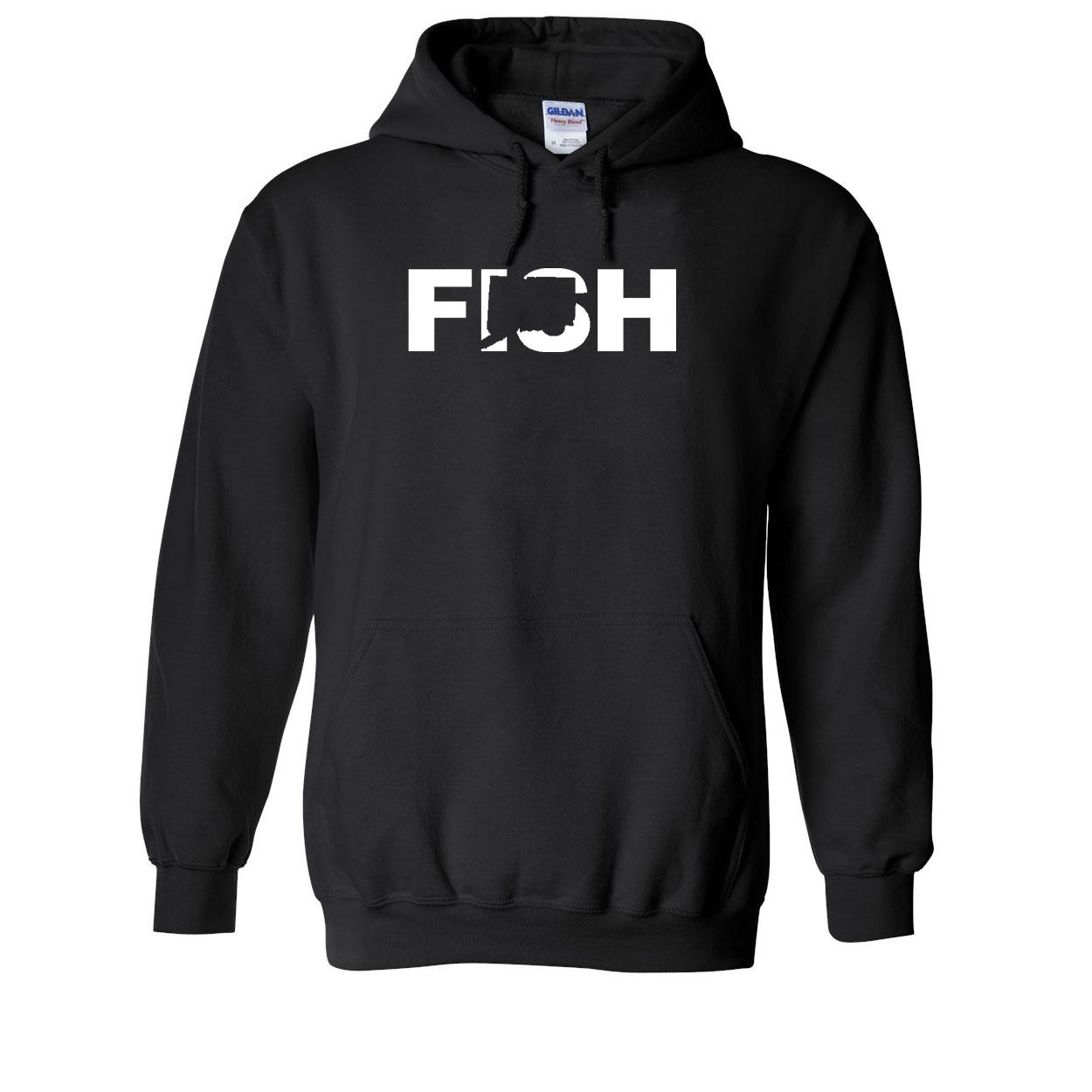 Fish Connecticut Classic Sweatshirt Black (White Logo)