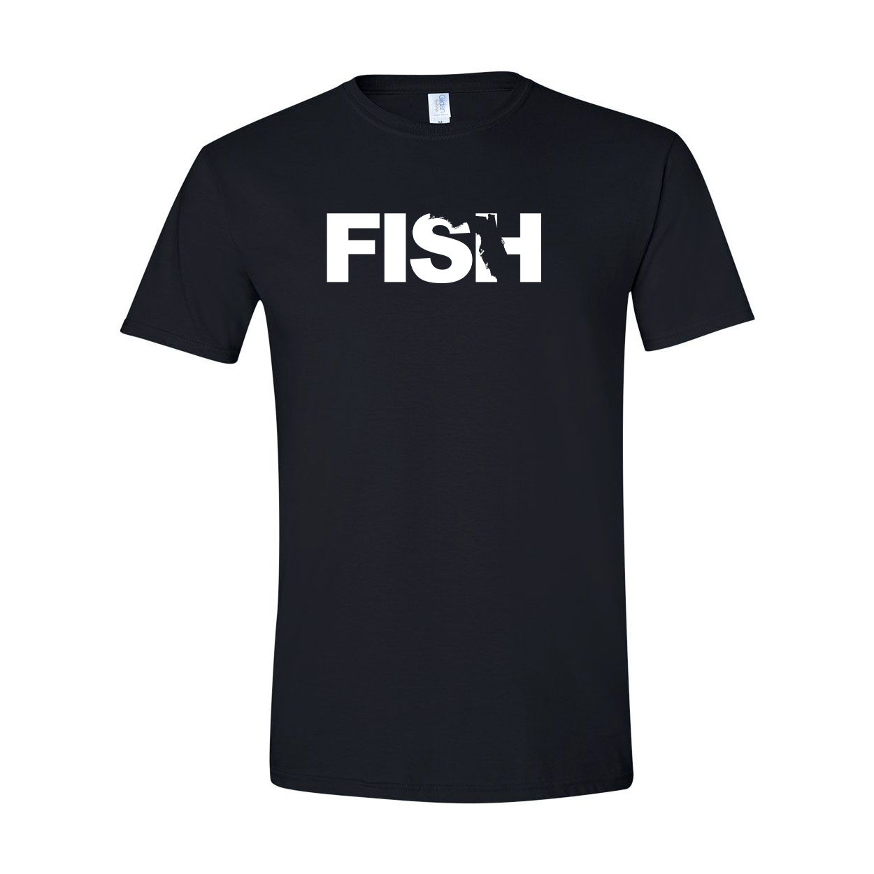Fish Florida Classic T-Shirt Black (White Logo)