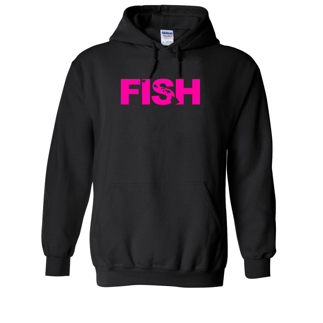 Fish Hawaii Classic Sweatshirt Black (Pink Logo)