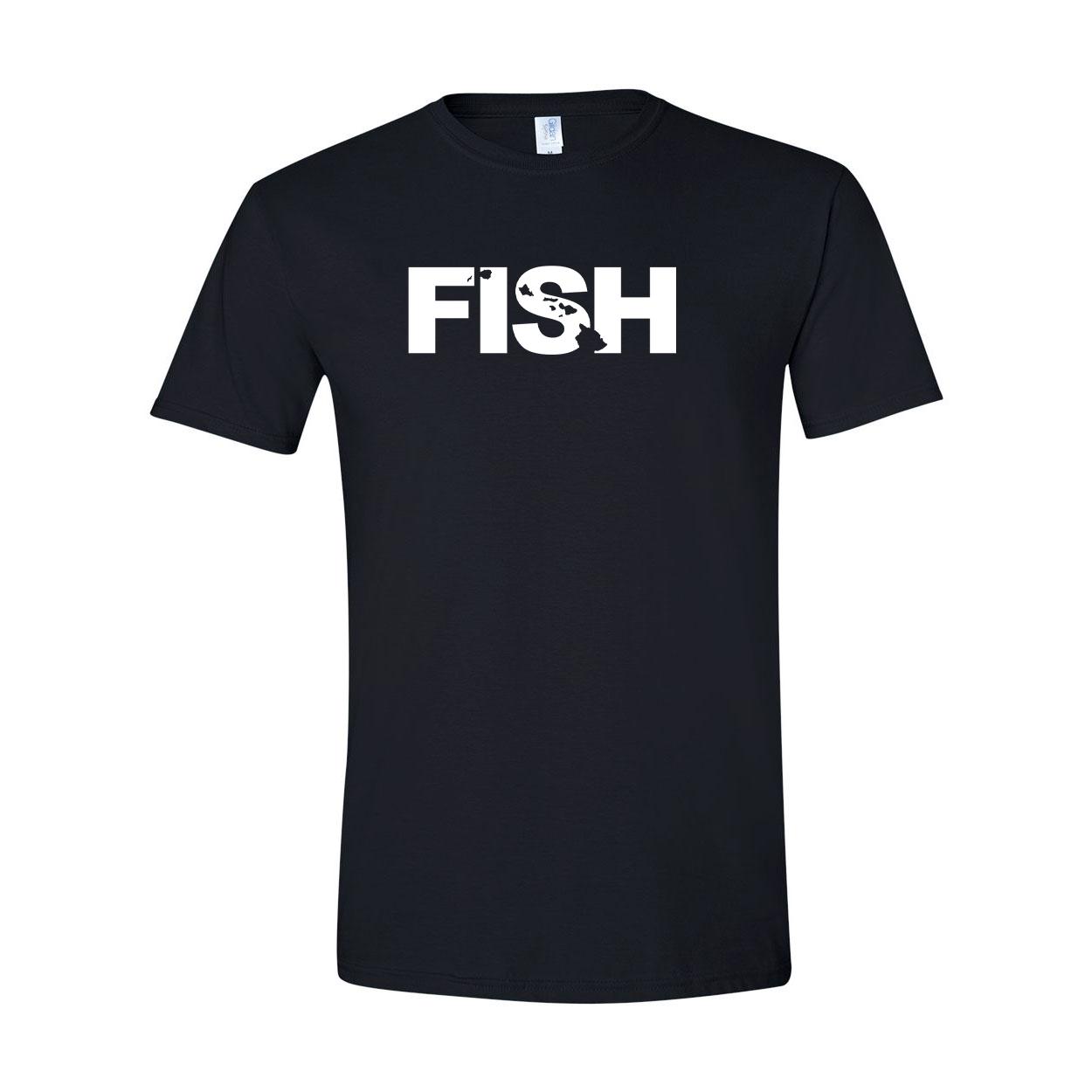 Fish Hawaii Classic T-Shirt Black (White Logo)