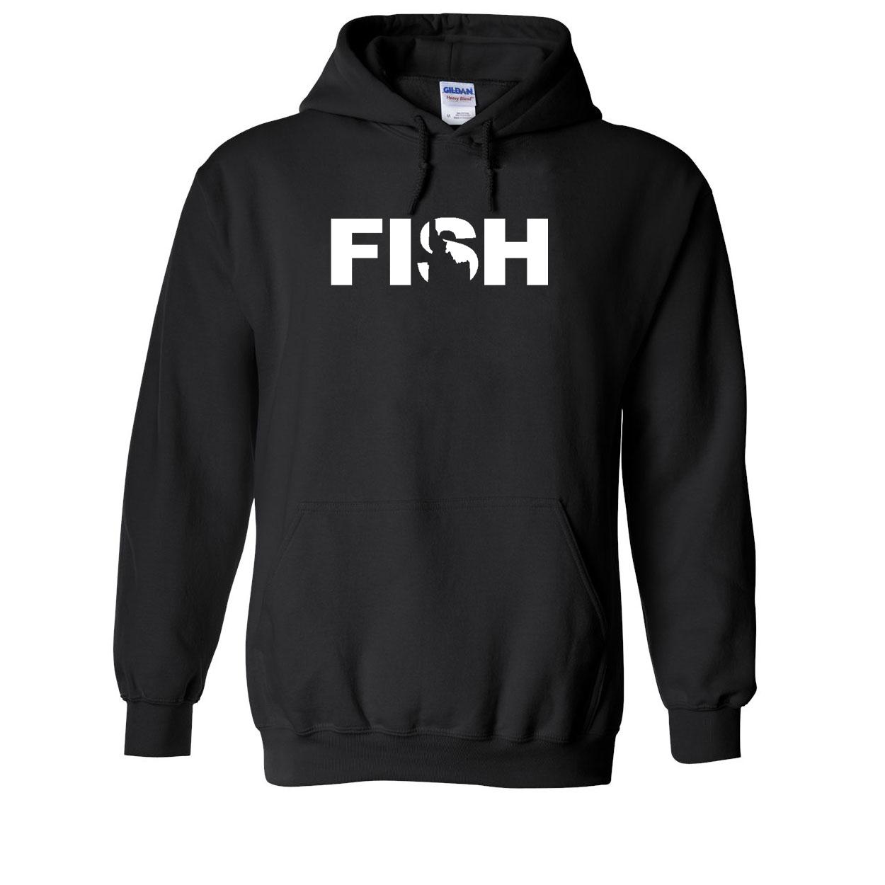 Fish Idaho Classic Sweatshirt Black (White Logo)